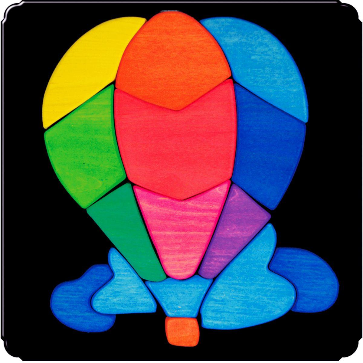 Деревяшкино Пазл для малышей Воздушный шар100Красочная игрушка-головоломка из натурального дерева на магнитной доске. Незаменима в машине, поездке – в любом месте, где Вашему малышу удобно играть. Удивительный мир ярких красок и фантазий везде с Вами! Каждая деталька мозаики крепко держится на магнитной доске. Ваш юный фантазер сможет не только решить сложную задачу: собрать головоломку как на картинке, но и, используя фантазию, сможет создать уникальные и неповторимые композиции. Объединяйте несколько наборов – будет интереснее! Все детали выполнены из натурального дерева, окрашены безопасной пищевой краской. Деревянные игрушки дают возможность ощутить структуру, плотность, вес, запах материала. Ребенок получает правдивую информацию об окружающем мире. Развивает: мелкую моторику, абстрактное и логическое мышление, понимание цветов, геометрических форм. Методические рекомендации: объясните малышу почему детальки держатся на доске. Объясните как правильно собрать мозаику, но не помогайте в трудных местах. Попросите ребенка...