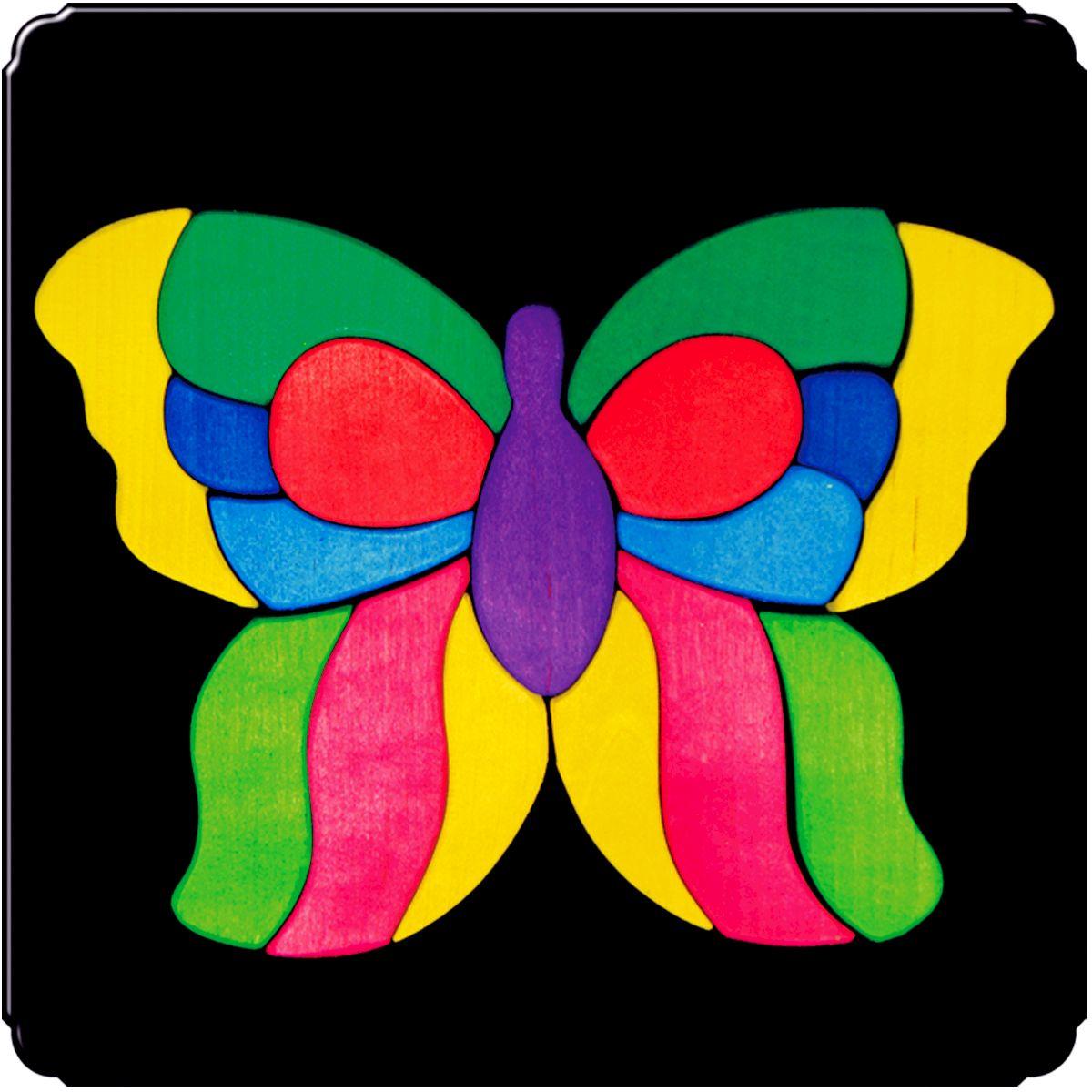 Деревяшкино Пазл для малышей Бабочка Лайф101Красочная игрушка-головоломка из натурального дерева на магнитной доске. Незаменима в машине, поездке – в любом месте, где Вашему малышу удобно играть. Удивительный мир ярких красок и фантазий везде с Вами! Каждая деталька мозаики крепко держится на магнитной доске. Ваш юный фантазер сможет не только решить сложную задачу: собрать головоломку как на картинке, но и, используя фантазию, сможет создать уникальные и неповторимые композиции. Объединяйте несколько наборов – будет интереснее! Все детали выполнены из натурального дерева, окрашены безопасной пищевой краской. Деревянные игрушки дают возможность ощутить структуру, плотность, вес, запах материала. Ребенок получает правдивую информацию об окружающем мире. Развивает: мелкую моторику, абстрактное и логическое мышление, понимание цветов, геометрических форм. Методические рекомендации: объясните малышу почему детальки держатся на доске. Объясните как правильно собрать мозаику, но не помогайте в трудных местах. Попросите ребенка...