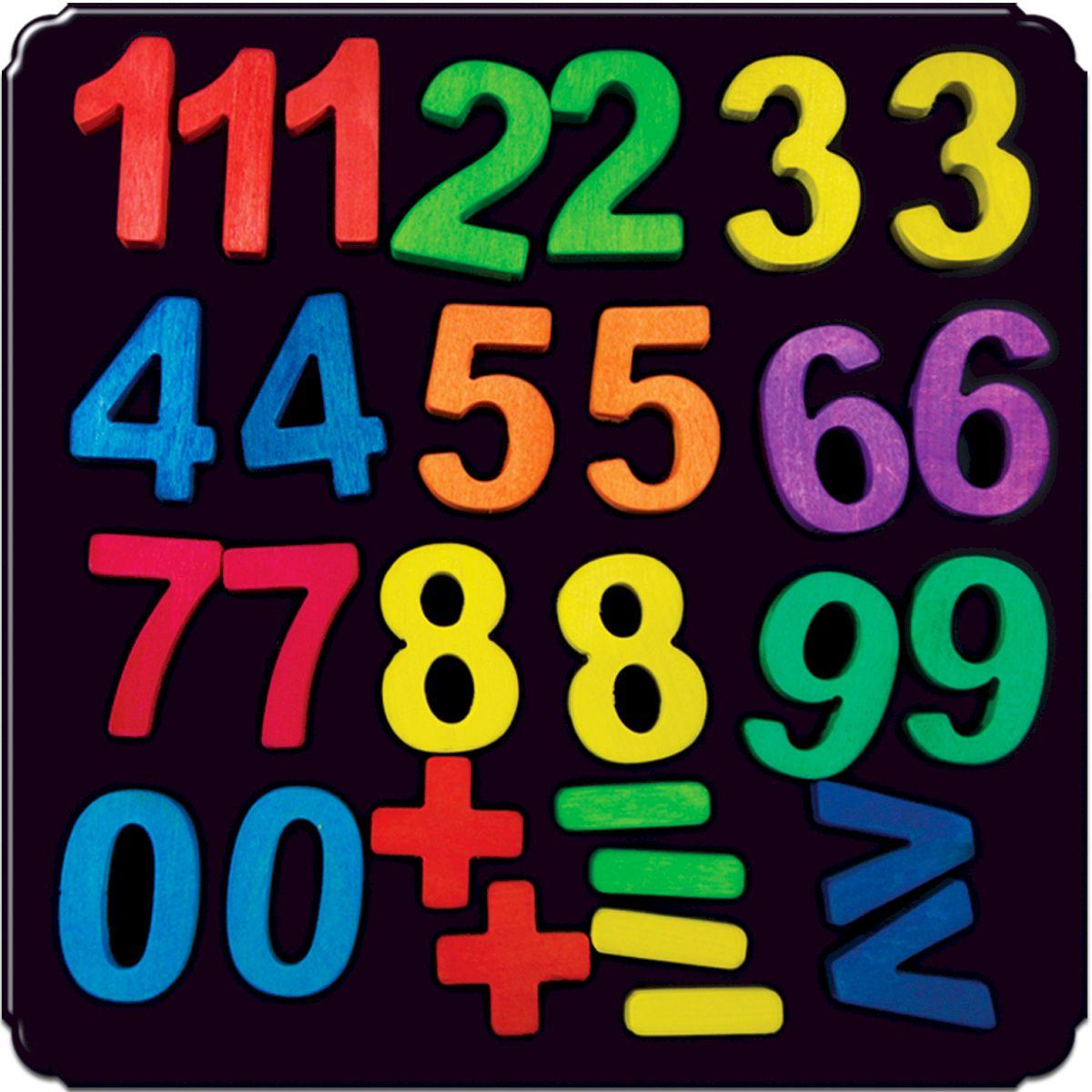 Деревяшкино Обучающая игра Магнитные Цифры104Развивающая тематическая игрушка (средней степени сложности) подходит для мальчиков и девочек в возрасте от 3 лет. Поможет в обучении малыша счету. Игра с цветными цифрами поможет малышу изучить цвета. Игрушка развивает математические способности, память, мелкую моторику детских ручек, усидчивость и терпение. Теперь обучение счету и математическим знакам станет намного проще и интереснее, ведь все это происходит в игровой форме. Экологически чистый продукт: изготовлено вручную из массива березы. Игрушка раскрашена пищевой водостойкой краской, что делает взаимодействие с изделием абсолютно безопасным: никаких лаков, «химии» или добавок.
