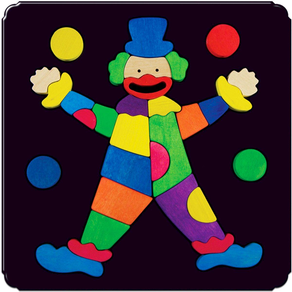 Деревяшкино Пазл для малышей Клоун 107107Красочная игрушка-головоломка из натурального дерева на магнитной доске. Незаменима в машине, поездке – в любом месте, где Вашему малышу удобно играть. Удивительный мир ярких красок и фантазий везде с Вами! Каждая деталька мозаики крепко держится на магнитной доске. Ваш юный фантазер сможет не только решить сложную задачу: собрать головоломку как на картинке, но и, используя фантазию, сможет создать уникальные и неповторимые композиции. Объединяйте несколько наборов – будет интереснее! Все детали выполнены из натурального дерева, окрашены безопасной пищевой краской. Деревянные игрушки дают возможность ощутить структуру, плотность, вес, запах материала. Ребенок получает правдивую информацию об окружающем мире. Развивает: мелкую моторику, абстрактное и логическое мышление, понимание цветов, геометрических форм. Методические рекомендации: объясните малышу почему детальки держатся на доске. Объясните как правильно собрать мозаику, но не помогайте в трудных местах. Попросите ребенка...