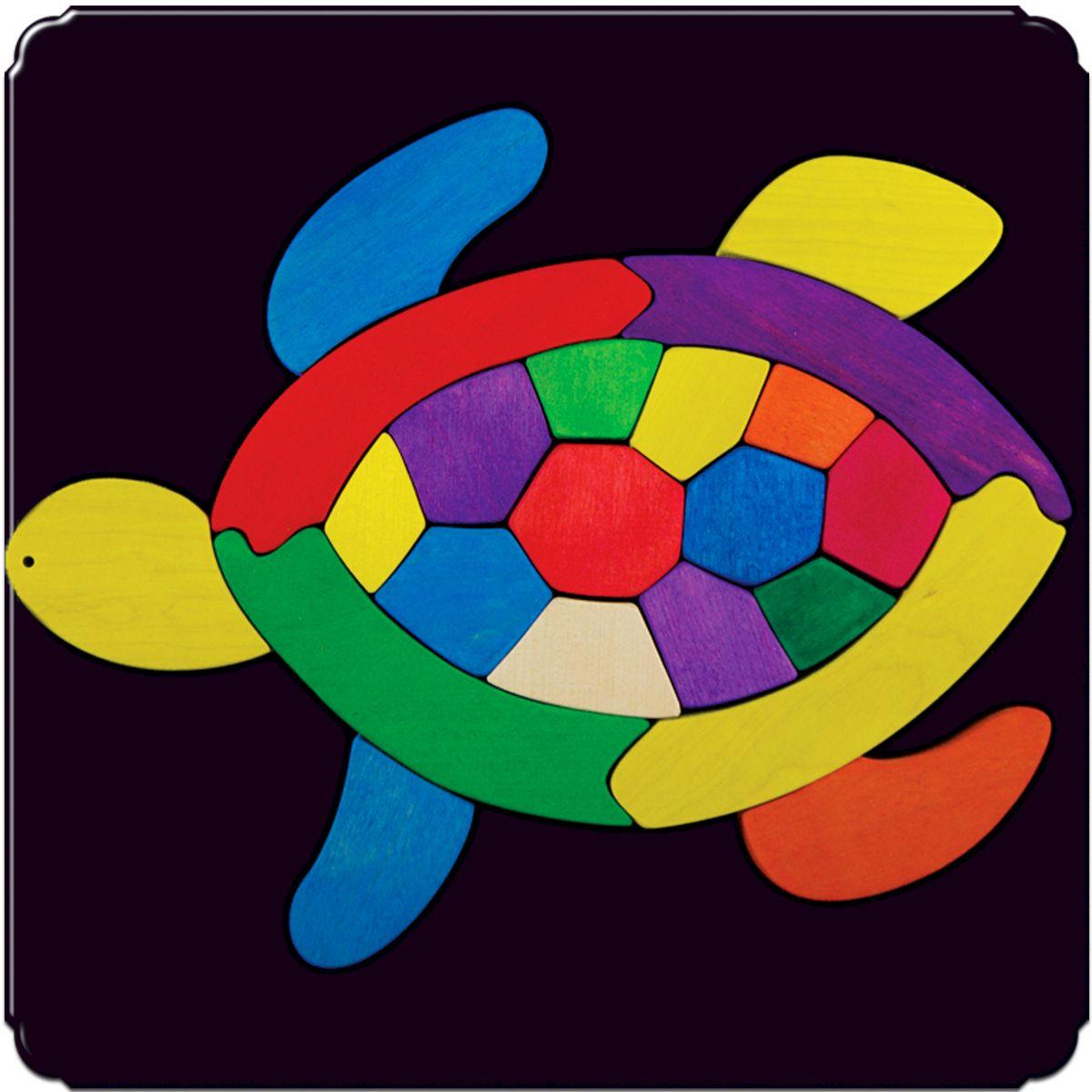 Деревяшкино Пазл для малышей Черепашка110Красочная игрушка-головоломка из натурального дерева на магнитной доске. Незаменима в машине, поездке – в любом месте, где Вашему малышу удобно играть. Удивительный мир ярких красок и фантазий везде с Вами! Каждая деталька мозаики крепко держится на магнитной доске. Ваш юный фантазер сможет не только решить сложную задачу: собрать головоломку как на картинке, но и, используя фантазию, сможет создать уникальные и неповторимые композиции. Объединяйте несколько наборов – будет интереснее! Все детали выполнены из натурального дерева, окрашены безопасной пищевой краской. Деревянные игрушки дают возможность ощутить структуру, плотность, вес, запах материала. Ребенок получает правдивую информацию об окружающем мире. Развивает: мелкую моторику, абстрактное и логическое мышление, понимание цветов, геометрических форм. Методические рекомендации: объясните малышу почему детальки держатся на доске. Объясните как правильно собрать мозаику, но не помогайте в трудных местах. Попросите ребенка...