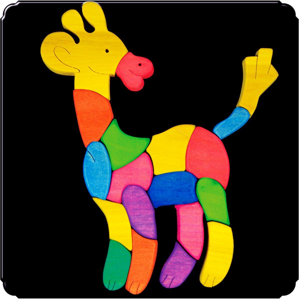 Деревяшкино Пазл для малышей Жираф111Красочная игрушка-головоломка из натурального дерева на магнитной доске. Незаменима в машине, поездке – в любом месте, где Вашему малышу удобно играть. Удивительный мир ярких красок и фантазий везде с Вами! Каждая деталька мозаики крепко держится на магнитной доске. Ваш юный фантазер сможет не только решить сложную задачу: собрать головоломку как на картинке, но и, используя фантазию, сможет создать уникальные и неповторимые композиции. Объединяйте несколько наборов – будет интереснее! Все детали выполнены из натурального дерева, окрашены безопасной пищевой краской. Деревянные игрушки дают возможность ощутить структуру, плотность, вес, запах материала. Ребенок получает правдивую информацию об окружающем мире. Развивает: мелкую моторику, абстрактное и логическое мышление, понимание цветов, геометрических форм. Методические рекомендации: объясните малышу почему детальки держатся на доске. Объясните как правильно собрать мозаику, но не помогайте в трудных местах. Попросите ребенка...