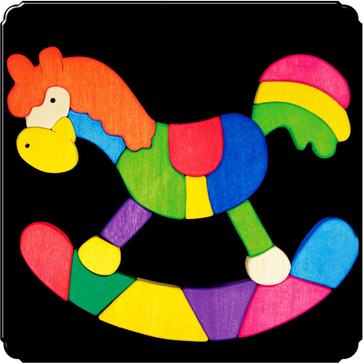 Деревяшкино Пазл для малышей Лошадка113Красочная игрушка-головоломка из натурального дерева на магнитной доске. Незаменима в машине, поездке – в любом месте, где Вашему малышу удобно играть. Удивительный мир ярких красок и фантазий везде с Вами! Каждая деталька мозаики крепко держится на магнитной доске. Ваш юный фантазер сможет не только решить сложную задачу: собрать головоломку как на картинке, но и, используя фантазию, сможет создать уникальные и неповторимые композиции. Объединяйте несколько наборов – будет интереснее! Все детали выполнены из натурального дерева, окрашены безопасной пищевой краской. Деревянные игрушки дают возможность ощутить структуру, плотность, вес, запах материала. Ребенок получает правдивую информацию об окружающем мире. Развивает: мелкую моторику, абстрактное и логическое мышление, понимание цветов, геометрических форм. Методические рекомендации: объясните малышу почему детальки держатся на доске. Объясните как правильно собрать мозаику, но не помогайте в трудных местах. Попросите ребенка...
