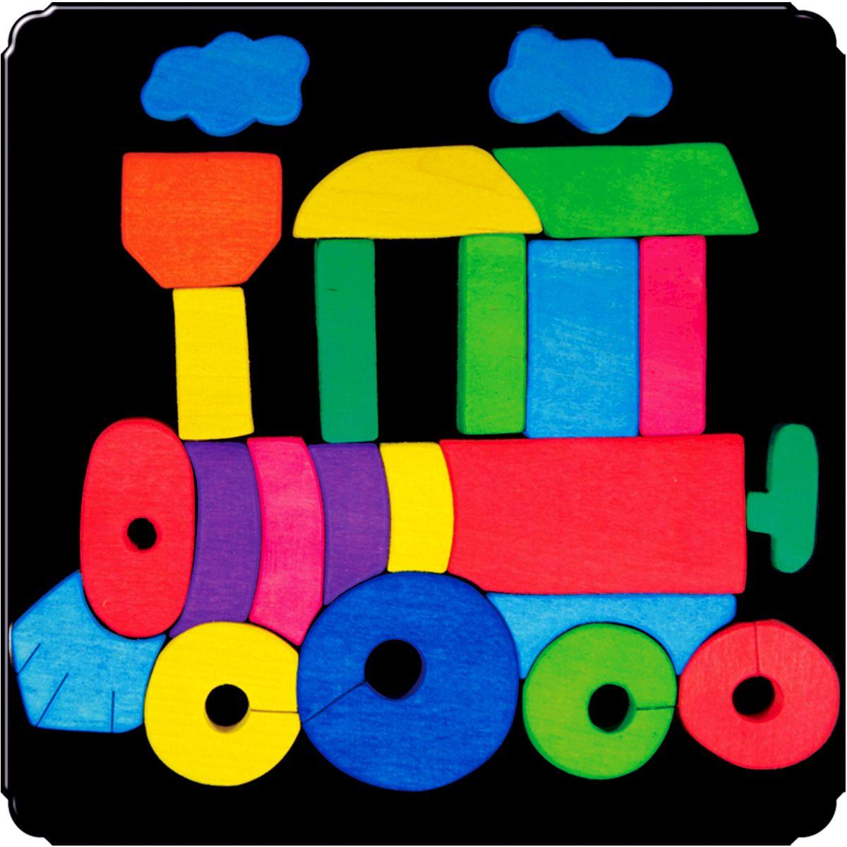 Деревяшкино Пазл для малышей Паровоз116Красочная игрушка-головоломка из натурального дерева на магнитной доске. Незаменима в машине, поездке – в любом месте, где Вашему малышу удобно играть. Удивительный мир ярких красок и фантазий везде с Вами! Каждая деталька мозаики крепко держится на магнитной доске. Ваш юный фантазер сможет не только решить сложную задачу: собрать головоломку как на картинке, но и, используя фантазию, сможет создать уникальные и неповторимые композиции. Объединяйте несколько наборов – будет интереснее! Все детали выполнены из натурального дерева, окрашены безопасной пищевой краской. Деревянные игрушки дают возможность ощутить структуру, плотность, вес, запах материала. Ребенок получает правдивую информацию об окружающем мире. Развивает: мелкую моторику, абстрактное и логическое мышление, понимание цветов, геометрических форм. Методические рекомендации: объясните малышу почему детальки держатся на доске. Объясните как правильно собрать мозаику, но не помогайте в трудных местах. Попросите ребенка...