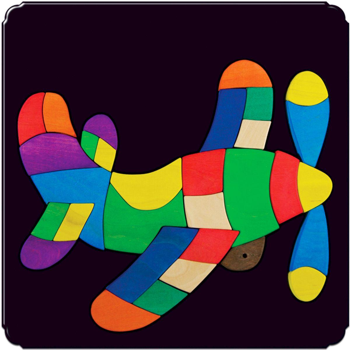 Деревяшкино Пазл для малышей Самолет119Красочная игрушка-головоломка из натурального дерева на магнитной доске. Незаменима в машине, поездке – в любом месте, где Вашему малышу удобно играть. Удивительный мир ярких красок и фантазий везде с Вами! Каждая деталька мозаики крепко держится на магнитной доске. Ваш юный фантазер сможет не только решить сложную задачу: собрать головоломку как на картинке, но и, используя фантазию, сможет создать уникальные и неповторимые композиции. Объединяйте несколько наборов – будет интереснее! Все детали выполнены из натурального дерева, окрашены безопасной пищевой краской. Деревянные игрушки дают возможность ощутить структуру, плотность, вес, запах материала. Ребенок получает правдивую информацию об окружающем мире. Развивает: мелкую моторику, абстрактное и логическое мышление, понимание цветов, геометрических форм. Методические рекомендации: объясните малышу почему детальки держатся на доске. Объясните как правильно собрать мозаику, но не помогайте в трудных местах. Попросите ребенка...