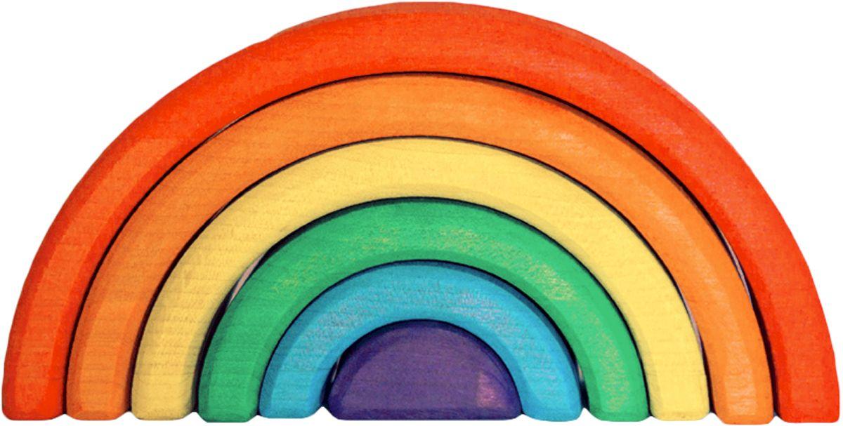 Деревяшкино Пирамидка Радуга 17 см120Развивающая деревянная головоломка-конструктор (средней степени сложности) подходит для мальчиков и девочек в возрасте от 3 лет, состоит из 6 деталей. Игрушка Радуга - это отличная возможность научить ребенка фантазировать! Развивает логическое, абстрактное и пространственное мышление, координацию, фантазию, обучает элементарным вещам: почему что-то стоит, а что-то падает и т.д Малыши смогут собирать ее по возрастанию дуг, строить качели и колыбельку для любимой куклы или тоннель для машинки. Складывать человечка, змейку, спираль, объемную пирамидку, башни и многое другое! Можно использовать как стульчик, играть с ней как на улице, так и дома. Экологически чистый продукт: изготовлено вручную из массива березы. Игрушка раскрашена пищевой водостойкой краской, что делает взаимодействие с изделием абсолютно безопасным: никаких лаков, «химии» или добавок.