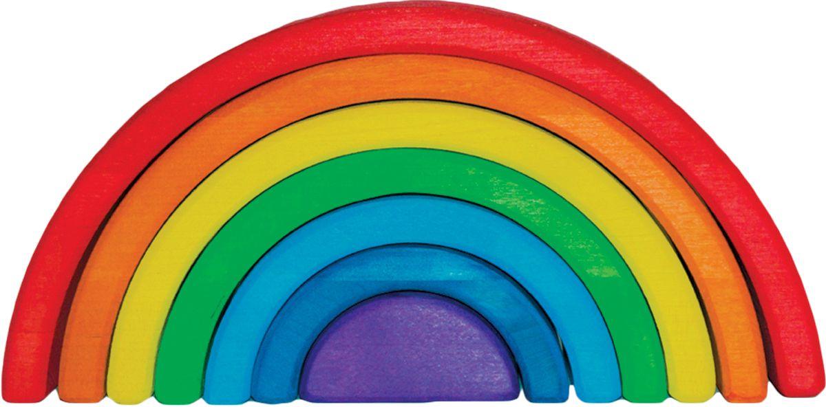 Деревяшкино Пирамидка Радуга 25 см121Развивающая деревянная головоломка-конструктор (средней степени сложности) подходит для мальчиков и девочек в возрасте от 3 лет, состоит из 7 деталей. Игрушка Радуга это отличная возможность научить ребенка фантазировать! Развивает логическое, абстрактное и пространственное мышление, координацию, фантазию, обучает элементарным вещам: почемучто-то стоит, а что-то падает и т.д Малыши смогут собирать ее по возрастанию дуг, строить качели и колыбельку для любимой куклы или тоннель для машинки. Складывать человечка, змейку, спираль, объемную пирамидку, башни и многое другое! Можно использовать как стульчик, играть с ней как на улице, так и дома. Экологически чистый продукт: изготовлено вручную из массива березы. Игрушка раскрашена пищевой водостойкой краской, что делает взаимодействие с изделием абсолютно безопасным: никаких лаков, «химии» или добавок.