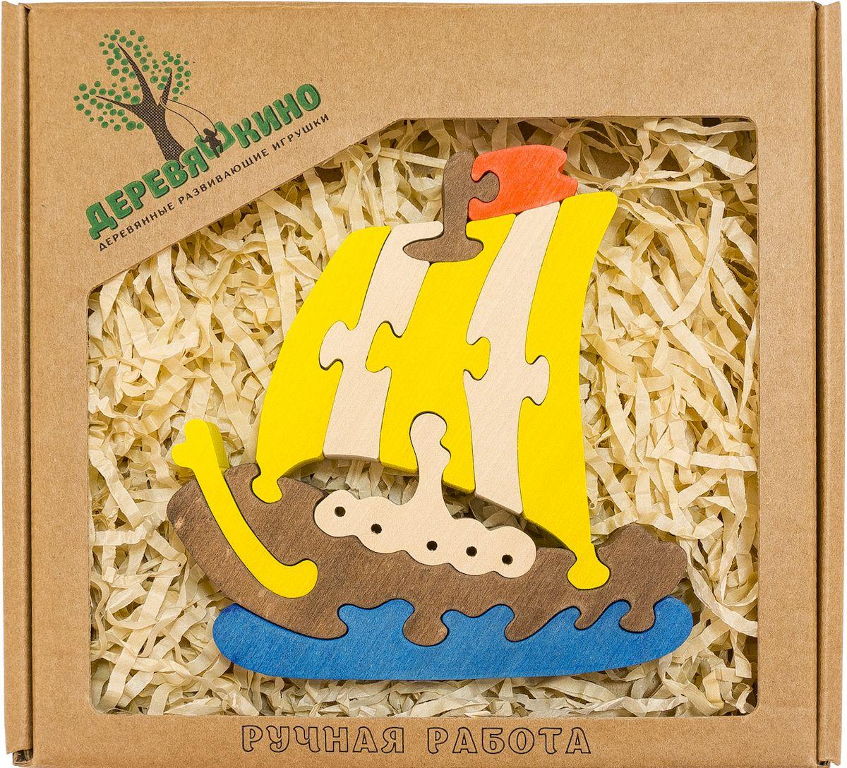 Деревяшкино Пазл для малышей Кораблик557Развивающая деревянная головоломка Кораблик (средней степени сложности) подходит для мальчиков и девочек в возрасте 3-5лет, состоит из 11 деталей. Экологически чистый продукт: изготовлено вручную из массива березы. Игрушка раскрашена пищевой водостойкой краской, что делает взаимодействие с изделием абсолютно безопасным: никаких лаков, «химии» или добавок. Процесс сборки деревянной головоломки развивает: тактильную сенсорику, внимательность, усидчивость, пространственное мышление, мелкую моторику, а так же учит различать элементы по цвету, форме и размеру. С продукцией компании Деревяшкино, Ваши детки развиваются, играя без риска для здоровья.