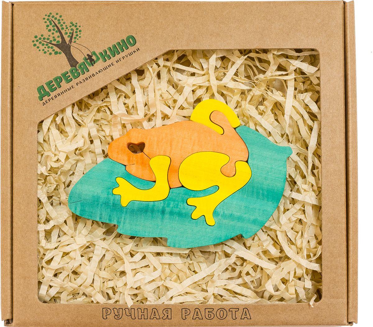 Деревяшкино Пазл для малышей Жабка на листке562Развивающая деревянная головоломка Жабка на листке (средней степени сложности) подходит для мальчиков и девочек в возрасте 3-5лет, состоит из 5 деталей. Экологически чистый продукт: изготовлено вручную из массива березы. Игрушка раскрашена пищевой водостойкой краской, что делает взаимодействие с изделием абсолютно безопасным: никаких лаков, «химии» или добавок. Процесс сборки деревянной головоломки развивает: тактильную сенсорику, внимательность, усидчивость, пространственное мышление, мелкую моторику, а так же учит различать элементы по цвету, форме и размеру. С продукцией компании Деревяшкино, Ваши детки развиваются, играя без риска для здоровья.