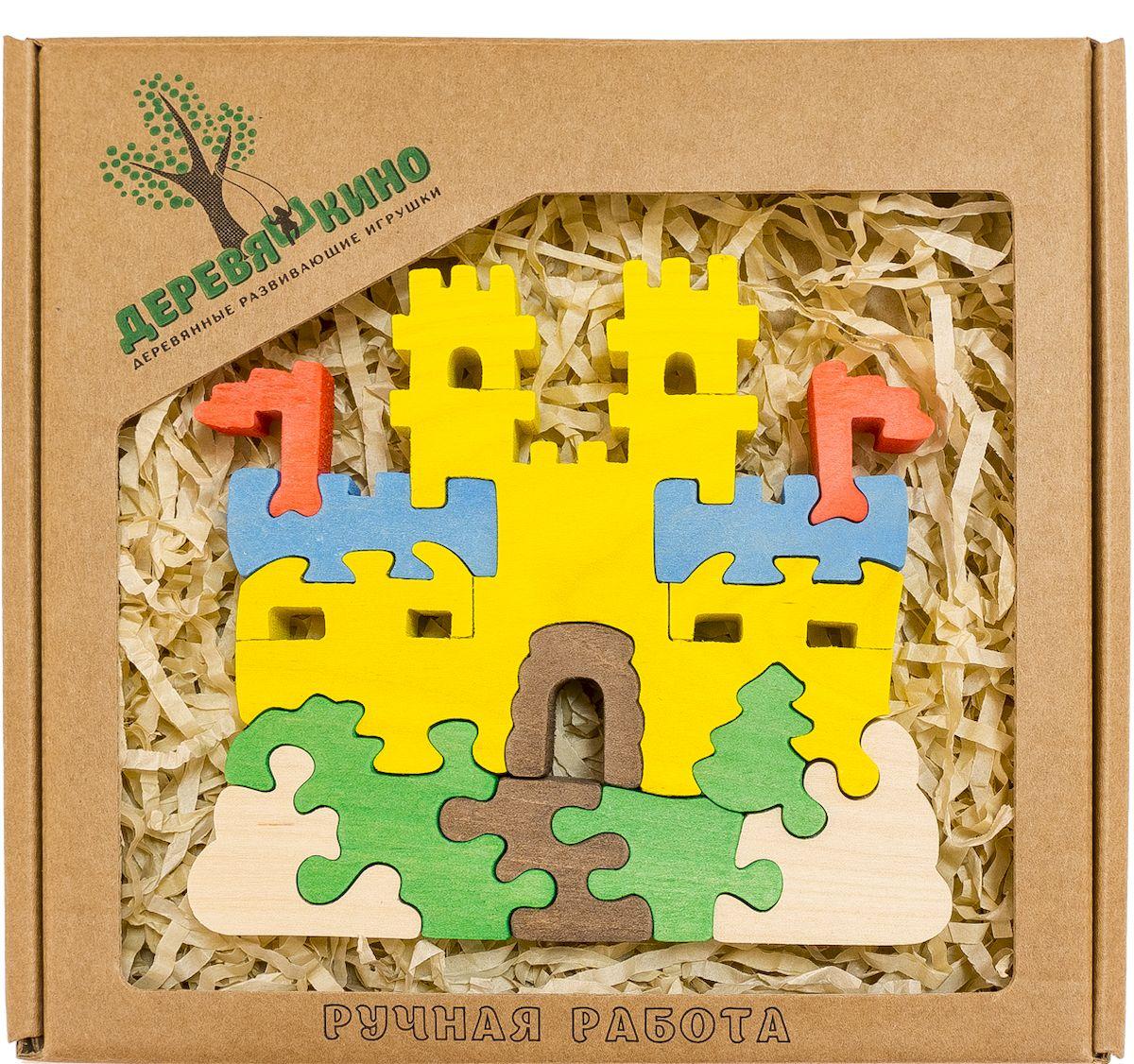 Деревяшкино Пазл для малышей Замок с башнями564Развивающая деревянная головоломка Замок с башнями (средней степени сложности) подходит для мальчиков и девочек в возрасте 3-5лет, состоит из 12 деталей. Экологически чистый продукт: изготовлено вручную из массива березы. Игрушка раскрашена пищевой водостойкой краской, что делает взаимодействие с изделием абсолютно безопасным: никаких лаков, «химии» или добавок. Процесс сборки деревянной головоломки развивает: тактильную сенсорику, внимательность, усидчивость, пространственное мышление, мелкую моторику, а так же учит различать элементы по цвету, форме и размеру. С продукцией компании Деревяшкино, Ваши детки развиваются, играя без риска для здоровья.