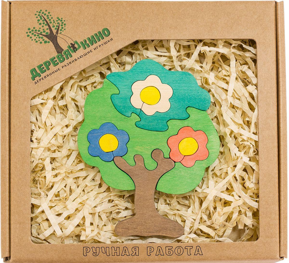 Деревяшкино Пазл для малышей Дерево в цветах582Развивающая деревянная головоломка Дерево в цветах (средней степени сложности) подходит для мальчиков и девочек в возрасте 3-5лет, состоит из 9 деталей. Экологически чистый продукт: изготовлено вручную из массива березы. Игрушка раскрашена пищевой водостойкой краской, что делает взаимодействие с изделием абсолютно безопасным: никаких лаков, «химии» или добавок. Процесс сборки деревянной головоломки развивает: тактильную сенсорику, внимательность, усидчивость, пространственное мышление, мелкую моторику, а так же учит различать элементы по цвету, форме и размеру. С продукцией компании Деревяшкино, Ваши детки развиваются, играя без риска для здоровья.