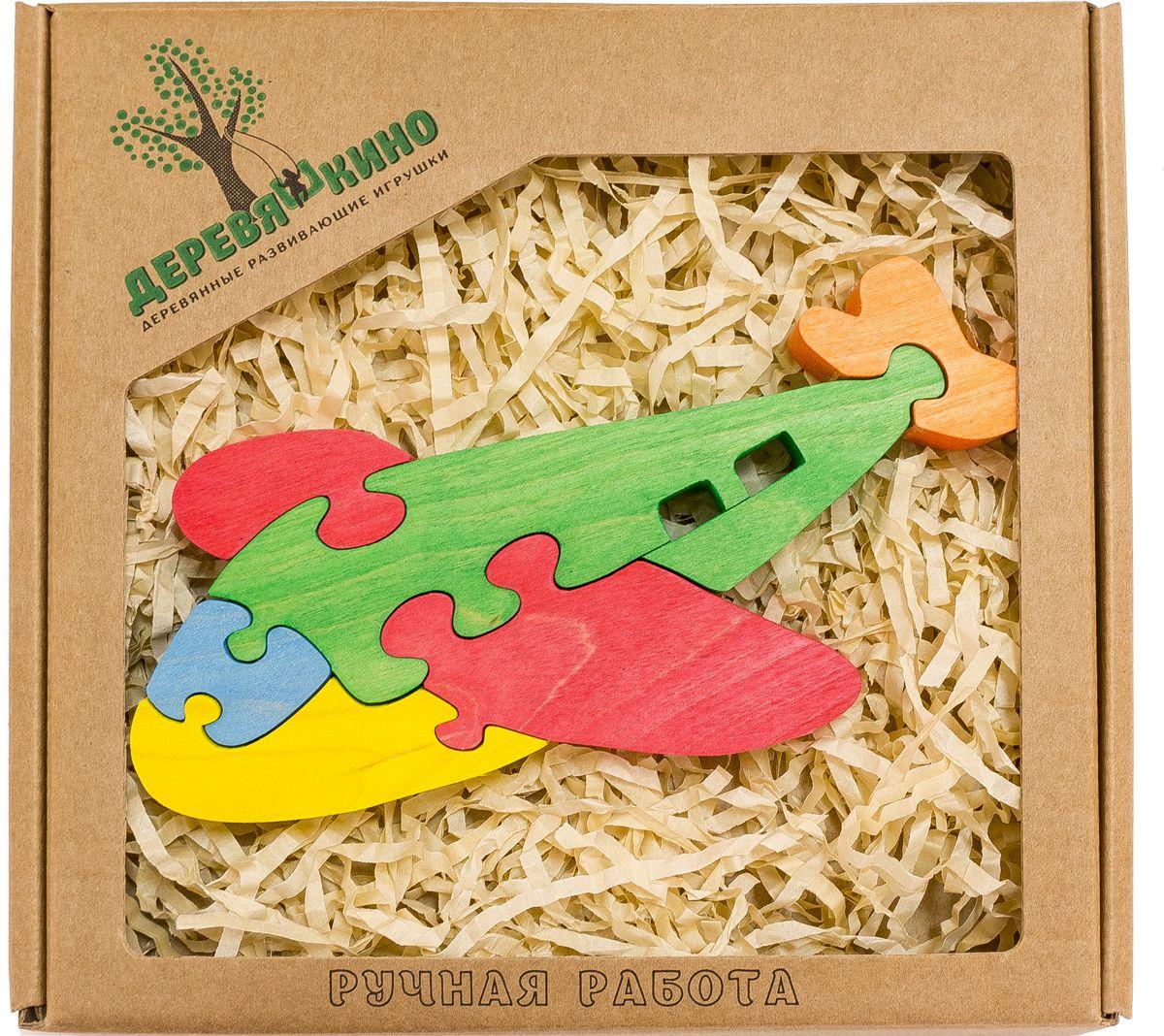 Деревяшкино Пазл для малышей Самолетик588Развивающая деревянная головоломка Самолетик (средней степени сложности) подходит для мальчиков и девочек в возрасте 3-5лет, состоит из 6 деталей. Экологически чистый продукт: изготовлено вручную из массива березы. Игрушка раскрашена пищевой водостойкой краской, что делает взаимодействие с изделием абсолютно безопасным: никаких лаков, «химии» или добавок. Процесс сборки деревянной головоломки развивает: тактильную сенсорику, внимательность, усидчивость, пространственное мышление, мелкую моторику, а так же учит различать элементы по цвету, форме и размеру. С продукцией компании Деревяшкино, Ваши детки развиваются, играя без риска для здоровья.