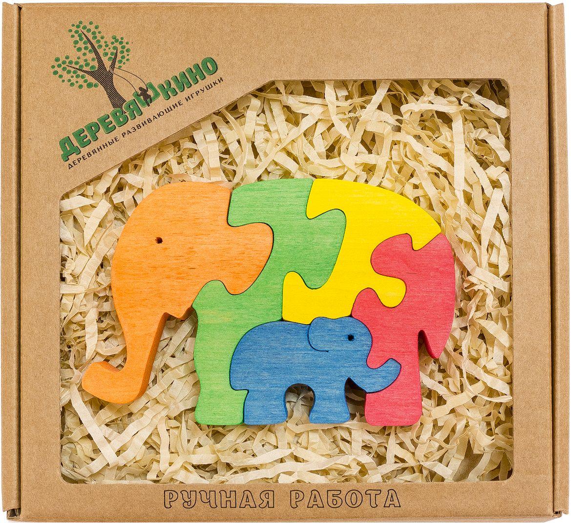 Деревяшкино Пазл для малышей Два слона598Развивающая деревянная головоломка Два слона (средней степени сложности) подходит для мальчиков и девочек в возрасте 3-5лет, состоит из 5 деталей. Экологически чистый продукт: изготовлено вручную из массива березы. Игрушка раскрашена пищевой водостойкой краской, что делает взаимодействие с изделием абсолютно безопасным: никаких лаков, «химии» или добавок. Процесс сборки деревянной головоломки развивает: тактильную сенсорику, внимательность, усидчивость, пространственное мышление, мелкую моторику, а так же учит различать элементы по цвету, форме и размеру. С продукцией компании Деревяшкино, Ваши детки развиваются, играя без риска для здоровья.