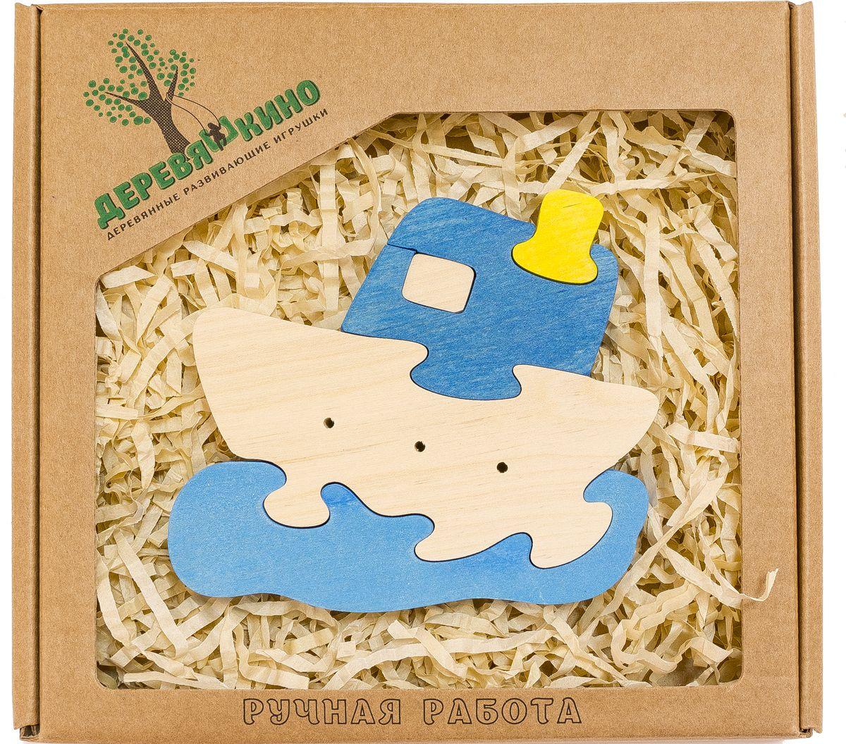 Деревяшкино Пазл для малышей Кораблик на волнах620Развивающая деревянная головоломка Кораблик на волнах (средней степени сложности) подходит для мальчиков и девочек в возрасте 3-5лет, состоит из 5 деталей. Экологически чистый продукт: изготовлено вручную из массива березы. Игрушка раскрашена пищевой водостойкой краской, что делает взаимодействие с изделием абсолютно безопасным: никаких лаков, «химии» или добавок. Процесс сборки деревянной головоломки развивает: тактильную сенсорику, внимательность, усидчивость, пространственное мышление, мелкую моторику, а так же учит различать элементы по цвету, форме и размеру. С продукцией компании Деревяшкино, Ваши детки развиваются, играя без риска для здоровья.