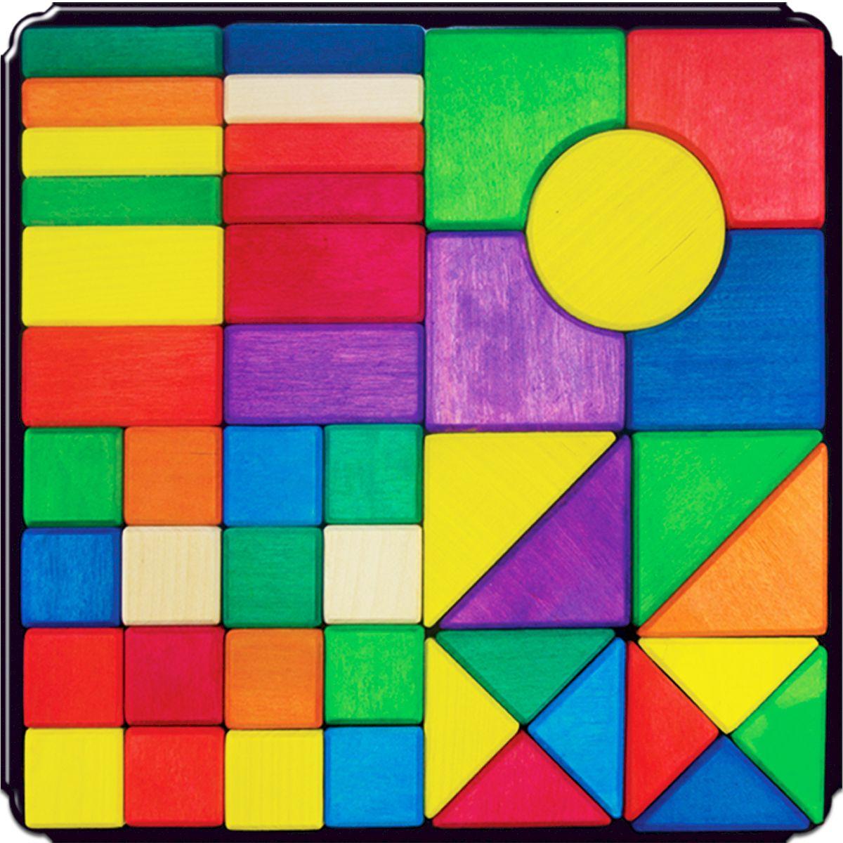 Деревяшкино Геометрические фигуры на магнитной доске 45 шт98Развивающая деревянная головоломка-конструктор (средней степени сложности) подходит для мальчиков и девочек в возрасте от 3 лет, состоит из 45 деталей. Можно раскладывать фигуры в заданной последовательности: круг, треугольник, квадрат; составлять объемные башенки из брусков, плоские картинки из кругов или квадратов разного размера, елки — из треугольников. Собирать фигуры одного цвета или одного размера. Дети знакомятся с названиями, характерными признаками и формой геометрических фигур. Развивают координацию, фантазию, пространственное мышление, обучают элементарным вещам: почему что-то стоит, а что-то падает и т.д. Экологически чистый продукт: изготовлено вручную из массива березы. Игрушка раскрашена пищевой водостойкой краской, что делает взаимодействие с изделием абсолютно безопасным: никаких лаков, «химии» или добавок.