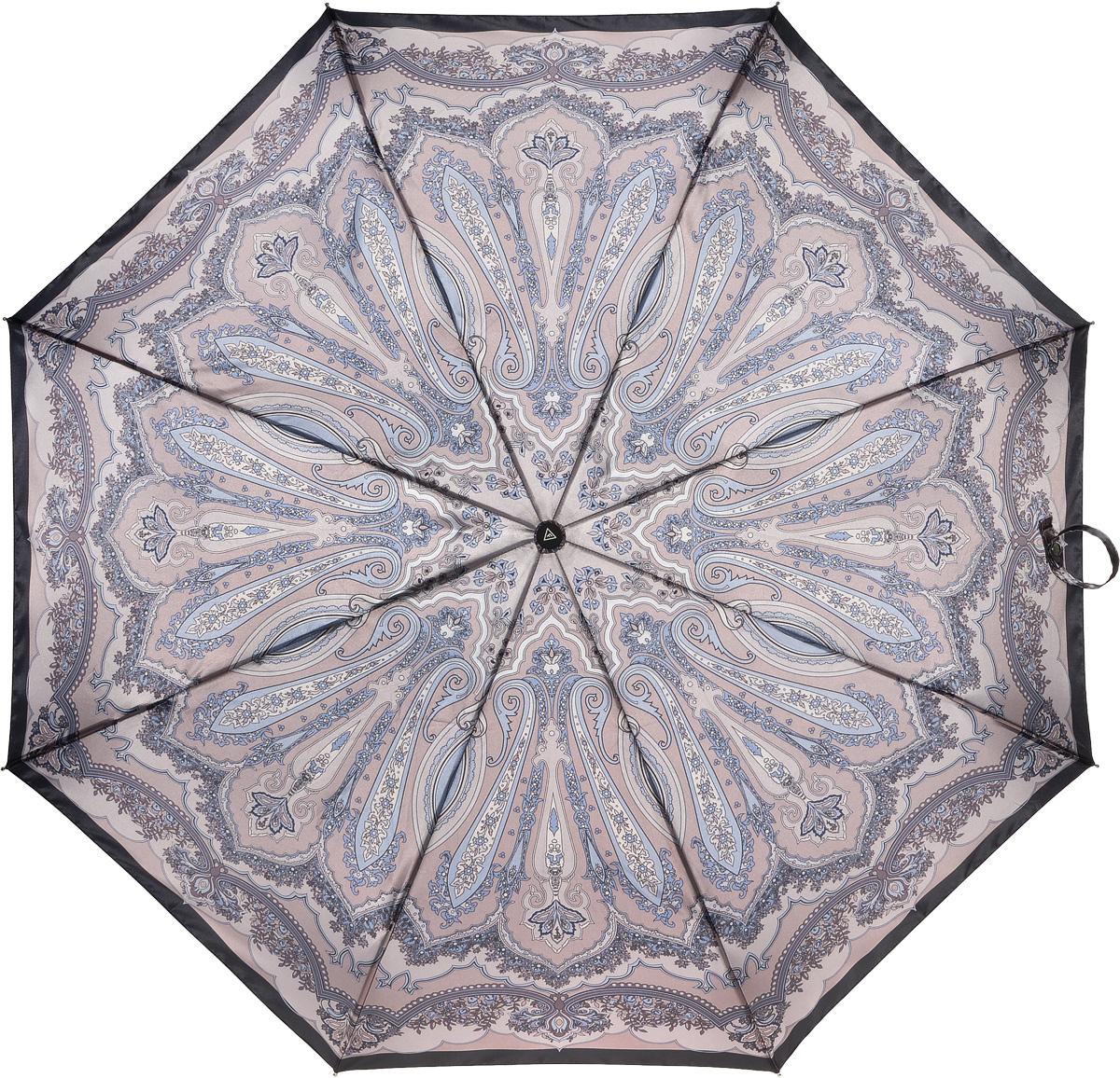 Зонт женский Fabretti, полный автомат, 3 сложения, цвет: мультиколор. S-16101-6S-16101-6Зонт женский Fabretti, суперавтомат, 3 сложения, сатин