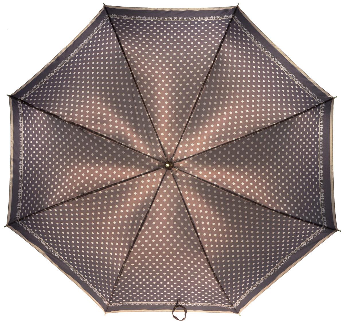 Зонт женский Fabretti, механика, трость, цвет: мультиколор. 16111611Зонт-трость женский Fabrett.Достаточно вместительный купол хорошо укроет вас и от самых сильных осадков.