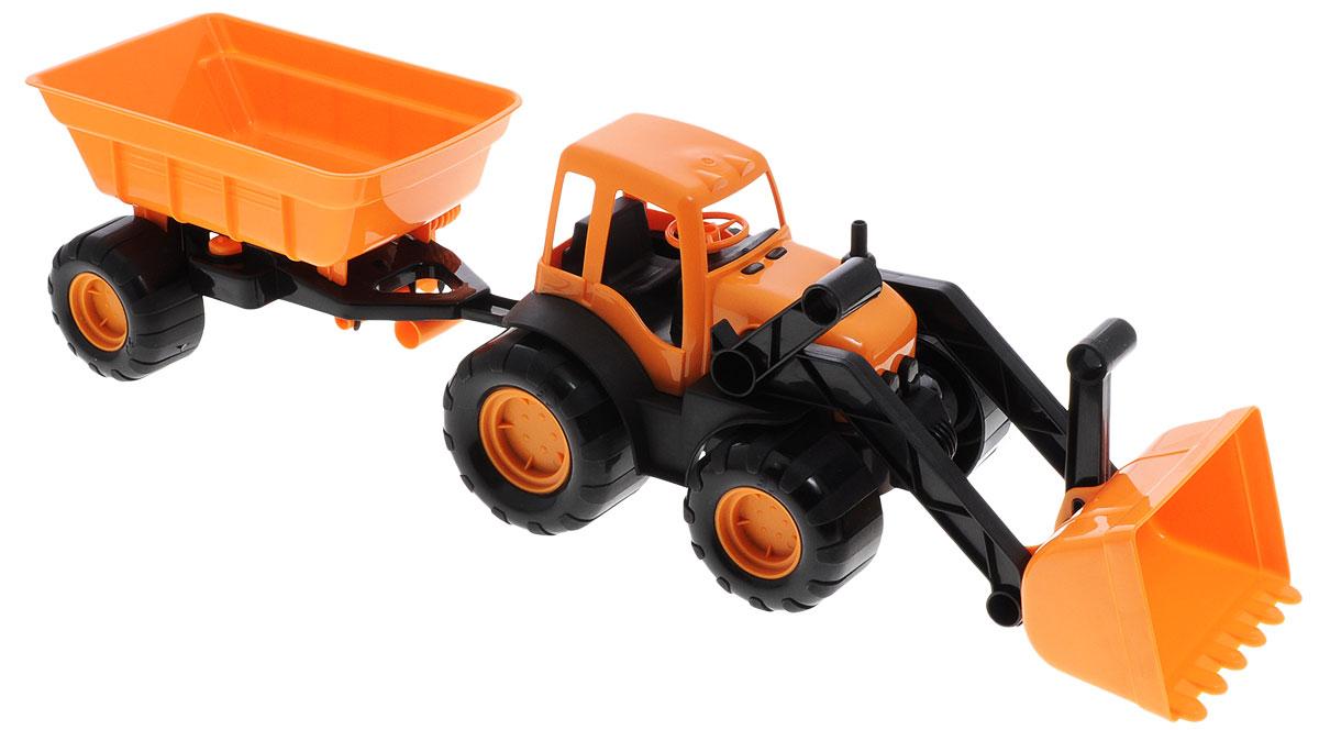 Zebratoys Трактор с ковшом и прицепом15-10173Трактор с ковшом и прицепом Zebratoys привлечет внимание вашего ребенка и станет его любимой игрушкой. Изделие выполнено из безопасного материала. Трактор снабжен подвижным поднимающимся ковшом и большими устойчивыми колесами со свободным ходом. При помощи ковша можно сгребать песок или другие сыпучие материалы. Ковш легко поднимается и опускается. В своем прицепе трактор может перевозить песок или снег. Прицеп отцепляется от трактора. Ваш маленький строитель увлеченно будет играть с таким трактором, придумывая различные истории. Порадуйте его таким замечательным подарком! Уважаемые клиенты! Обращаем ваше внимание на ассортимент в цвете товара. Поставка возможна в одном из вариантов нижеприведенных цветов, в зависимости от наличия на складе.