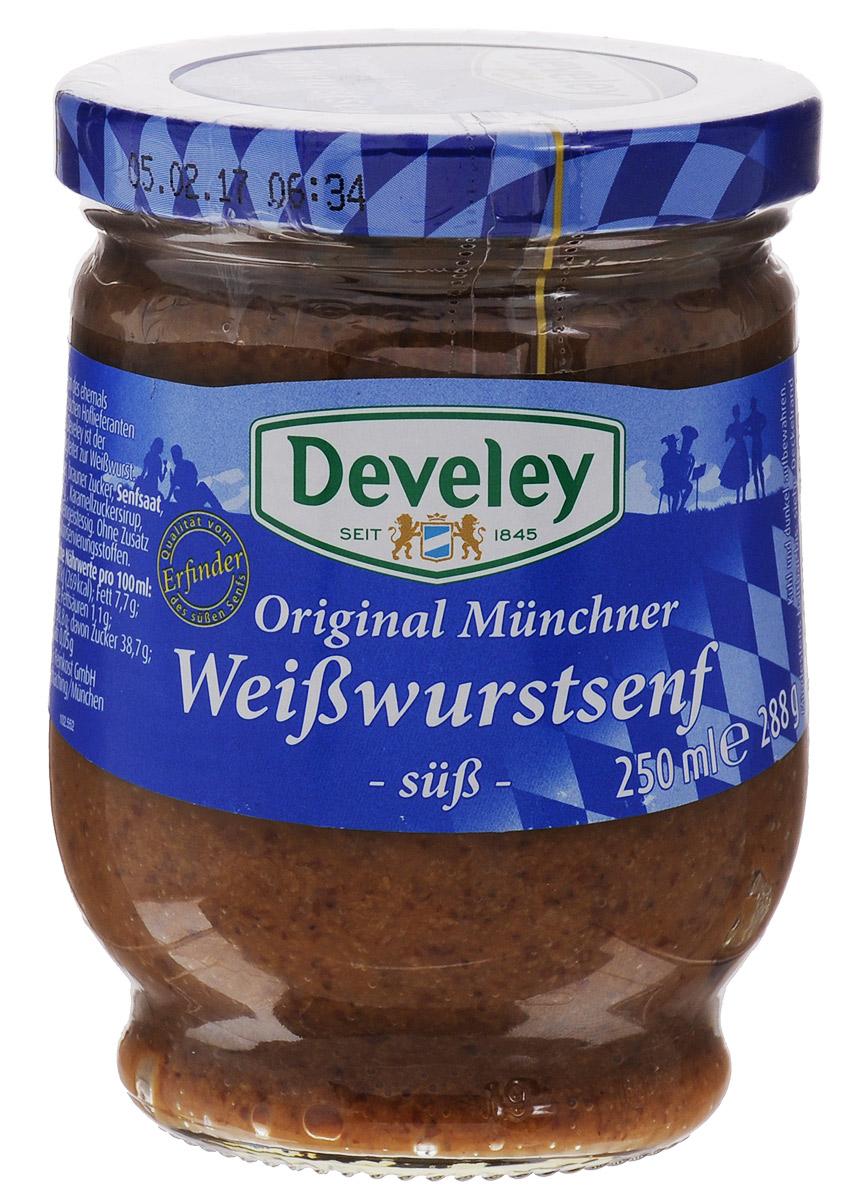 Develey Баварская горчица сладкая, 250 мл