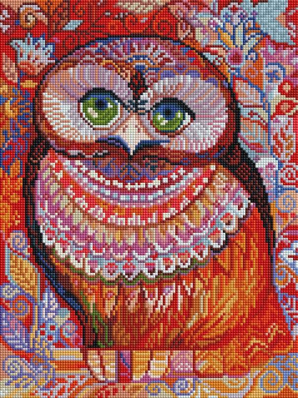 Мозаика на подрамнике Белоснежка Медовая сова, 30 х 40 см346-ST-Sнабора для творчества Алмазная мозаика Основа мозаичной картины - холст на подрамнике усиленный листом оргалита. тип камней: квадратные 2,5х2,5 мм. Количество цветов: 40. 100 % заполнение. Размер готовой работы: 30х40 см.