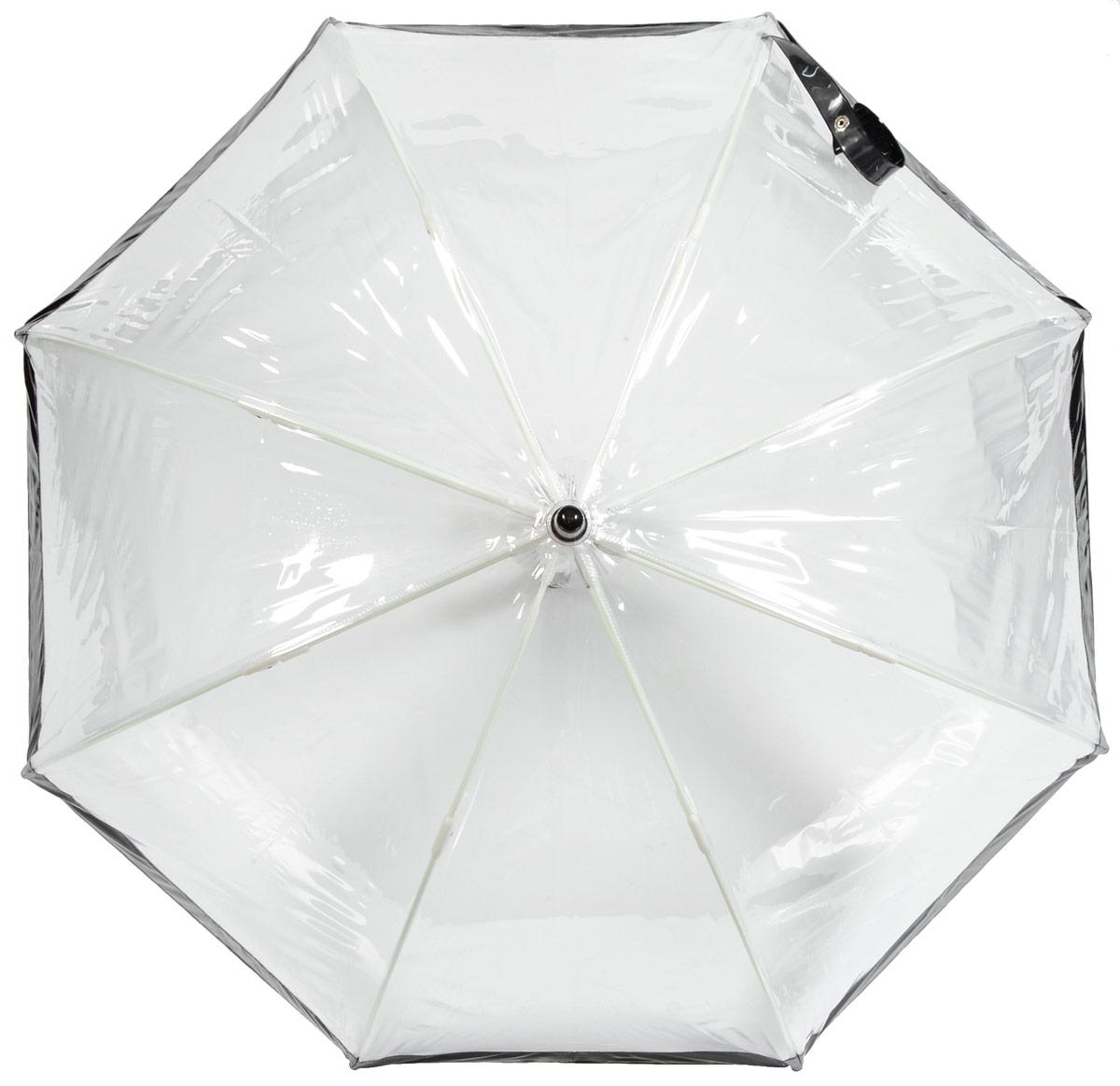 Зонт детский Fulton, расцветка: черный. C603-01 BlackC603-01 BlackСимпатичный прозрачный зонтик в форме купола с цветной полоской обязательно понравится Вашему ребенку! Специальная безопасная и надежная технология открывания и закрывания. Модная форма купола. Зонт отлично защищает от дождя, и при этом он абсолютно прозрачен. Прочный ветроустойчивый каркас из фибергласса. Длина в сложенном виде 68,5 см, диаметр купола 65 см