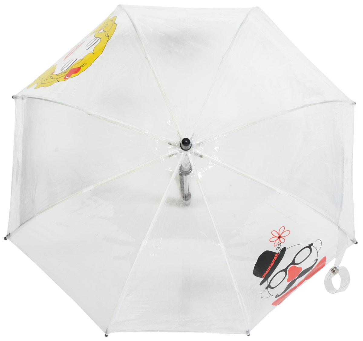 Зонт детский Fulton, расцветка: лица. C605-2868 FunnyFacesC605-2868 FunnyFacesСимпатичный прозрачный зонтик в форме купола с ярким узором обязательно понравится Вашему ребенку! Специальная безопасная и надежная технология открывания и закрывания. Модная форма купола. Зонт отлично защищает от дождя, и при этом он абсолютно прозрачен. Прочный ветроустойчивый каркас из фибергласса. Длина в сложенном виде 68,5 см, диаметр купола 65 см