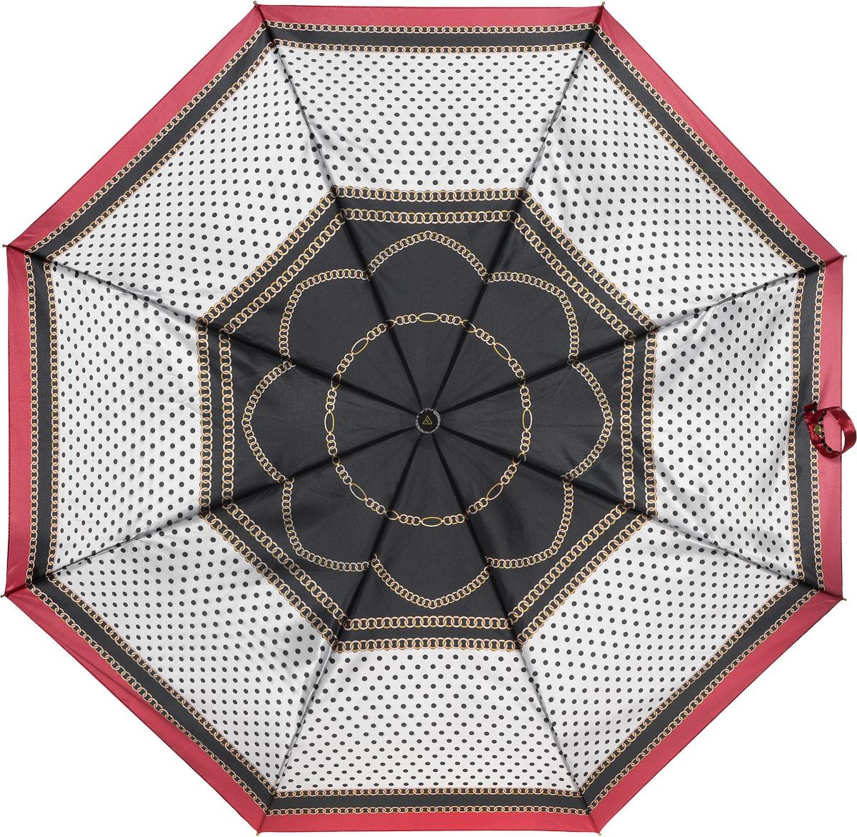 Зонт женский Fabretti, полный автомат, 3 сложения, цвет: мультиколор. S-16103-8S-16103-8Зонт женский Fabretti, суперавтомат, 3 сложения, сатин