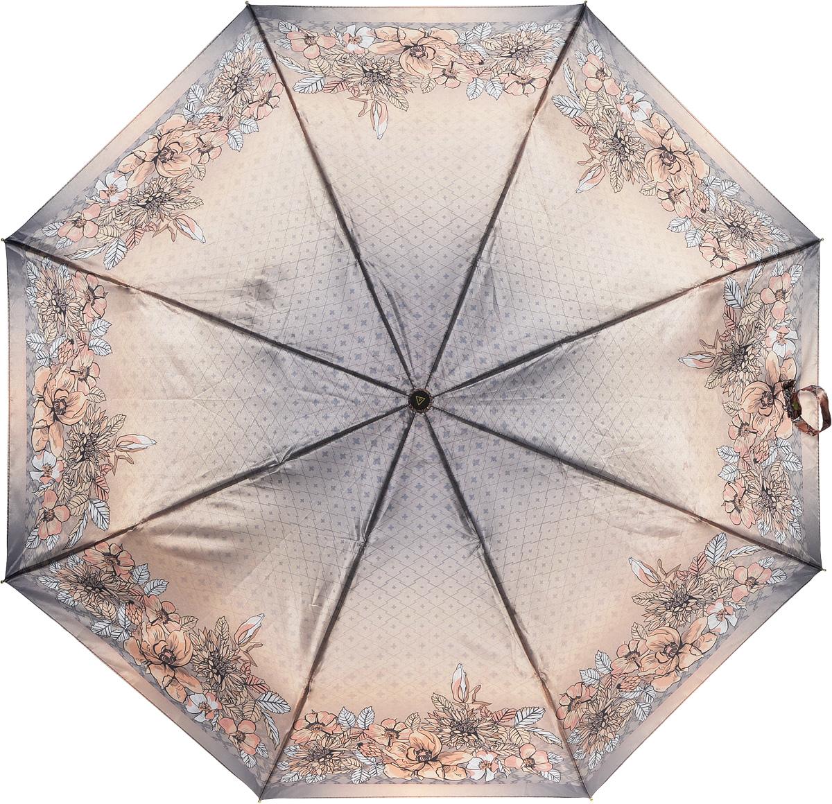 Зонт женский Fabretti, автомат, 3 сложения. L-16107-23L-16107-23Зонт женский Fabretti, облегченный суперавтомат, 3 сложения