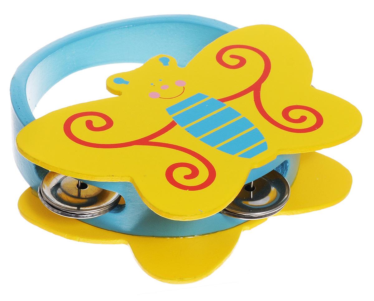 Мир деревянных игрушек Бубен БабочкаД220_бабочкаБубен Мир деревянных игрушек Бабочка доставит огромное удовольствие вашему ребенку и вдохновит его к занятию музыкой. Музыкальный инструмент выполнен в оригинальном дизайне: поверхность бубна деревянная, в виде фигурки бабочки, а по бокам ободка имеются прорези со вставленными в них металлическими пластинами. Играть на бубне можно двумя способами: встряхивая его или ударяя об его поверхность. Бубен Мир деревянных игрушек Бабочка способствует развитию звуковосприятия, чувства ритма и музыкальных способностей у ребенка.