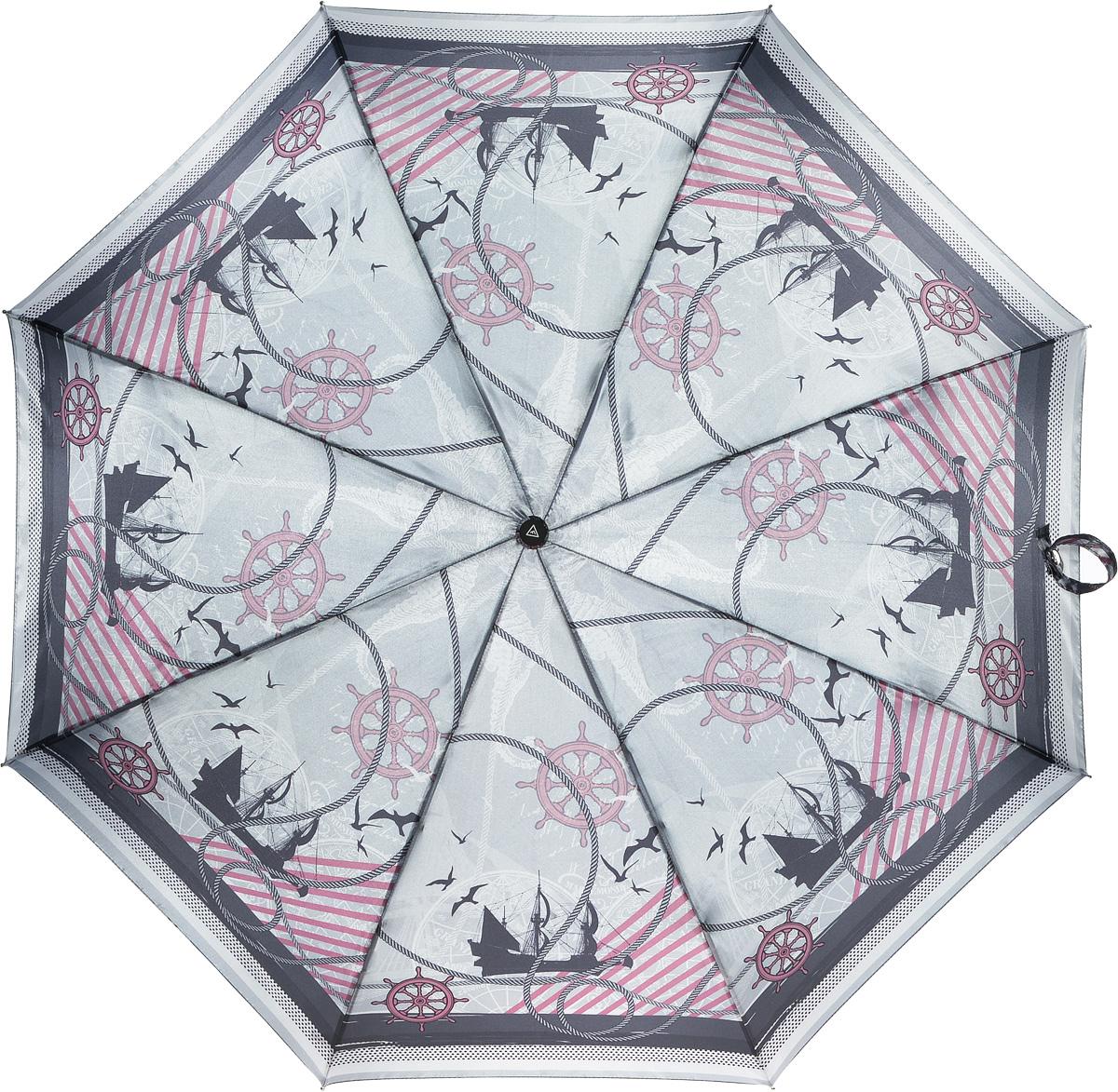 Зонт женский Fabretti, автомат, 3 сложения. L-16104-5L-16104-5Зонт женский Fabretti, облегченный суперавтомат, 3 сложения
