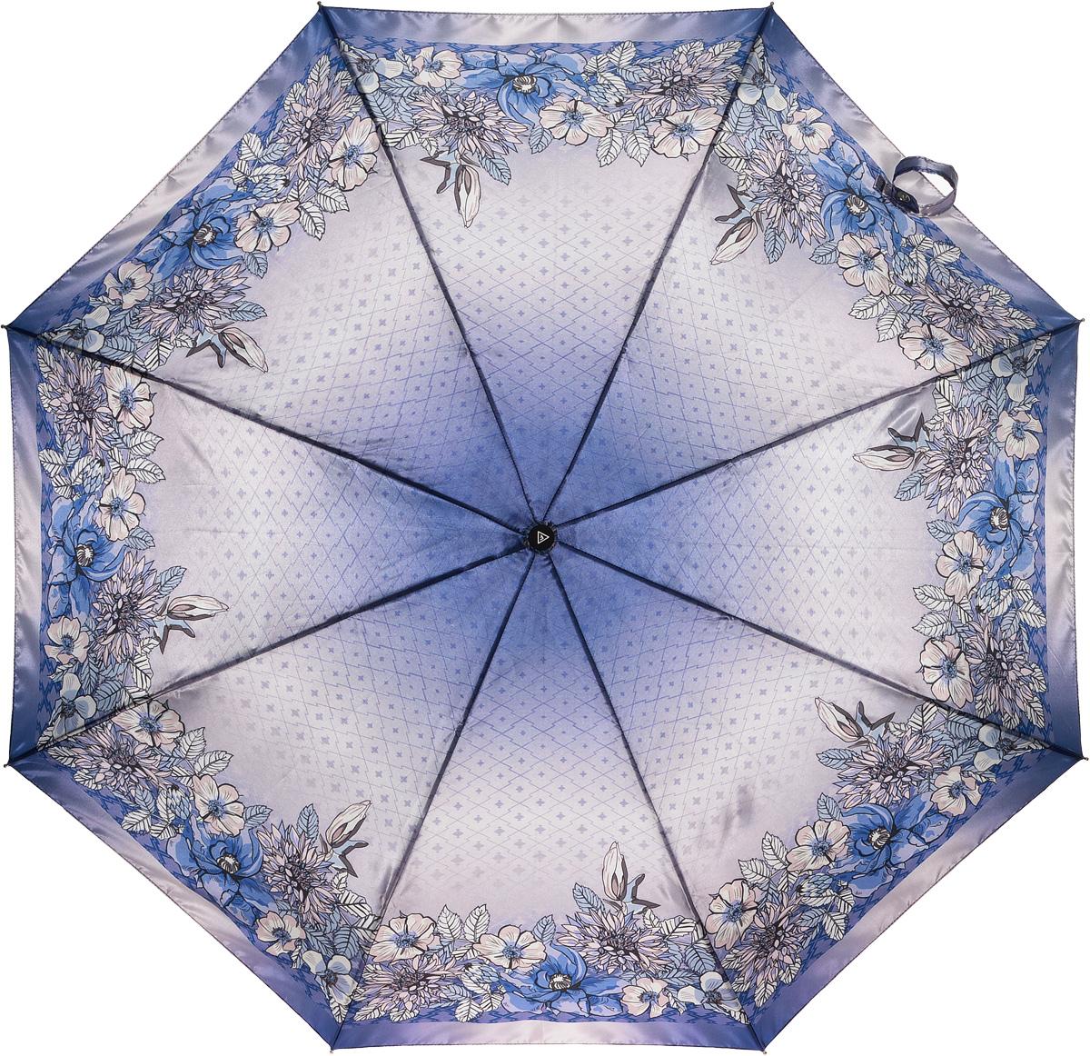 Зонт женский Fabretti, автомат, 3 сложения, цвет: мультиколор. L-16105-2L-16105-2Зонт женский Fabretti, облегченный суперавтомат, 3 сложения