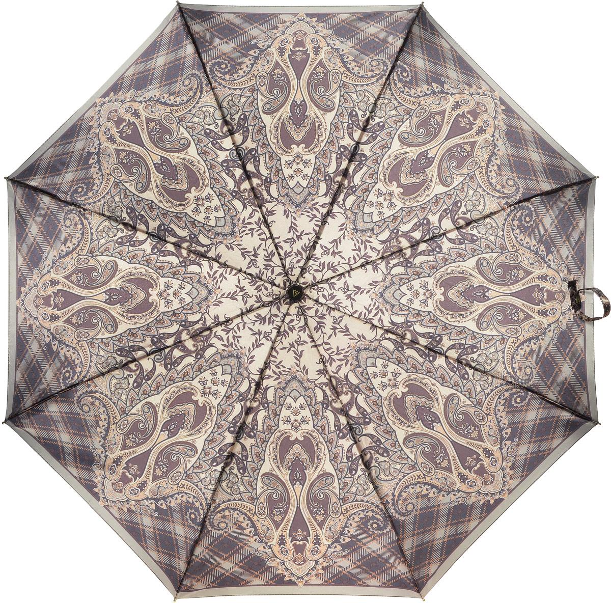 Зонт женский Fabretti, автомат, 3 сложения. L-16107-27L-16107-27Зонт женский Fabretti, облегченный суперавтомат, 3 сложения