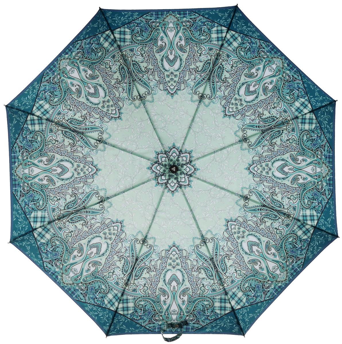 Зонт женский Fabretti, автомат, 3 сложения, цвет: мультиколор. L-16102-4L-16102-4Зонт женский Fabretti, облегченный суперавтомат, 3 сложения.Превосходный зонт красочной расцветки. Незаменимый аксессуар на дождливую погоду.