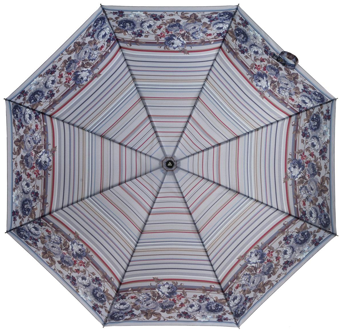 Зонт женский Fabretti, автомат, 3 сложения, цвет: мультиколор. L-16102-1L-16102-1Зонт женский Fabretti, облегченный суперавтомат, 3 сложения.Такой зонтик сможет стать настоящим украшением вашего гардероба.