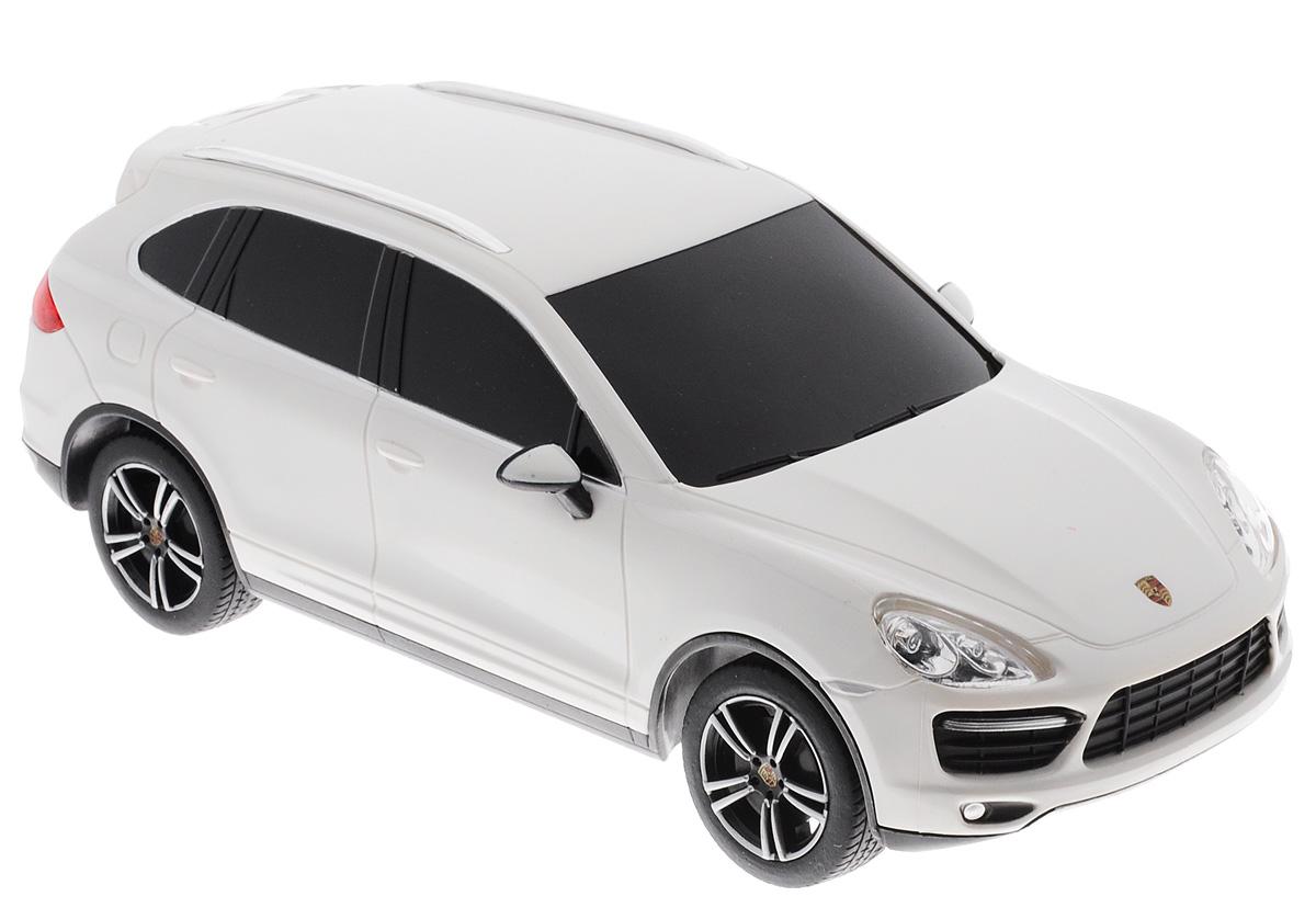 Rastar Радиоуправляемая модель Porsche Cayenne Turbo цвет белый масштаб 1:2446100_белыйРадиоуправляемая модель Rastar Porsche Cayenne Turbo является точной копией настоящего автомобиля в масштабе 1/24. Управление автомобилем происходит с помощью удобного пульта. Машина двигается вперед и назад, поворачивает направо, налево и останавливается. Колеса игрушки прорезинены и обеспечивают плавный ход, машинка не портит напольное покрытие. Пульт управления работает на частоте 27 MHz. Радиоуправляемые игрушки способствуют развитию координации движений, моторики и ловкости. Ваш ребенок часами будет играть с моделью, придумывая различные истории и устраивая соревнования. Порадуйте его таким замечательным подарком! Машина работает от 3 батареек напряжением 1,5V типа АА (не входят в комплект). Пульт управления работает от 2 батареек напряжением 1,5V типа АА (не входят в комплект).