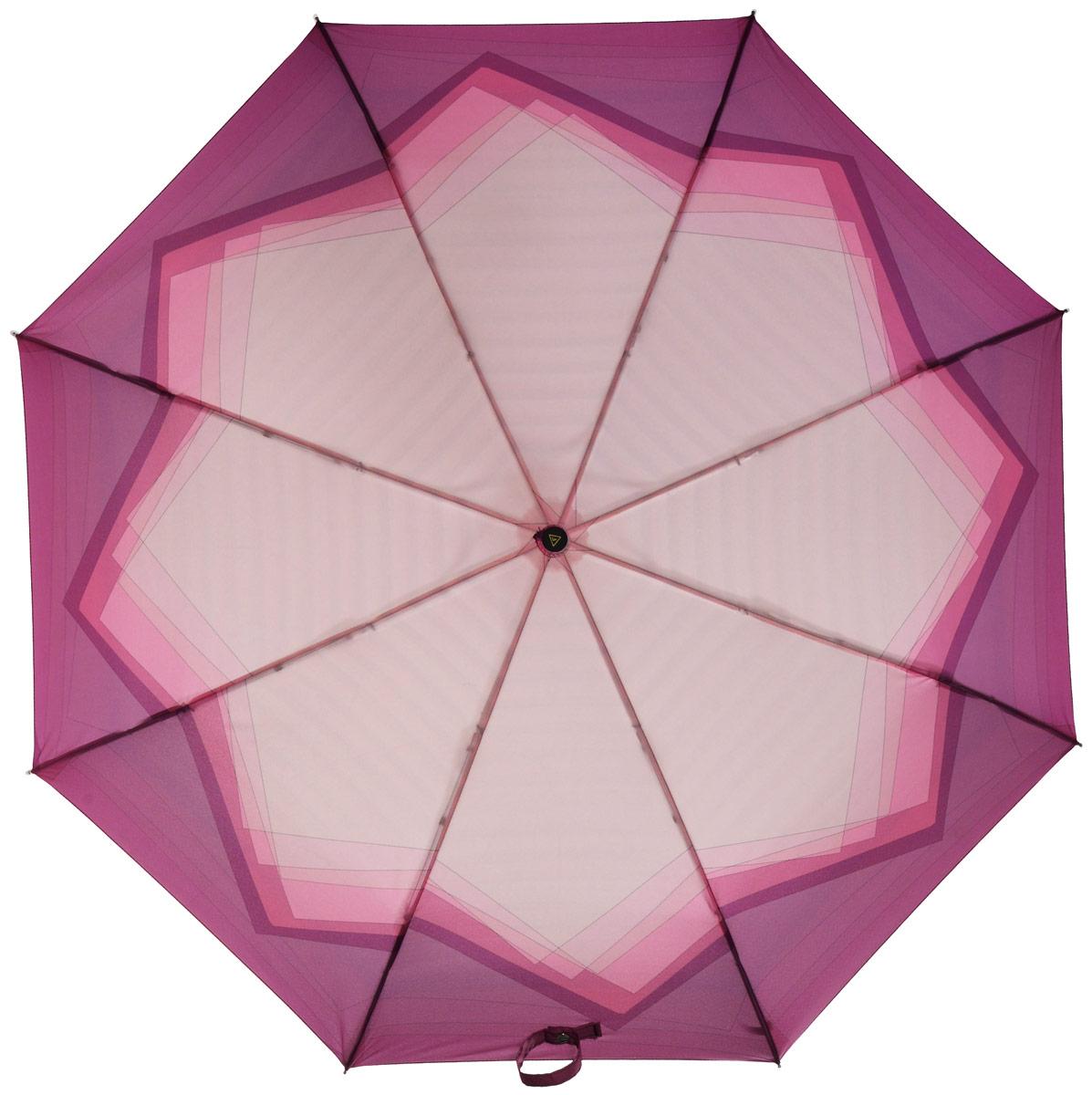 Зонт женский Fabretti, автомат, 3 сложения, цвет: мультиколор. L-16102-7L-16102-7Зонт женский Fabretti, облегченный суперавтомат, 3 сложения