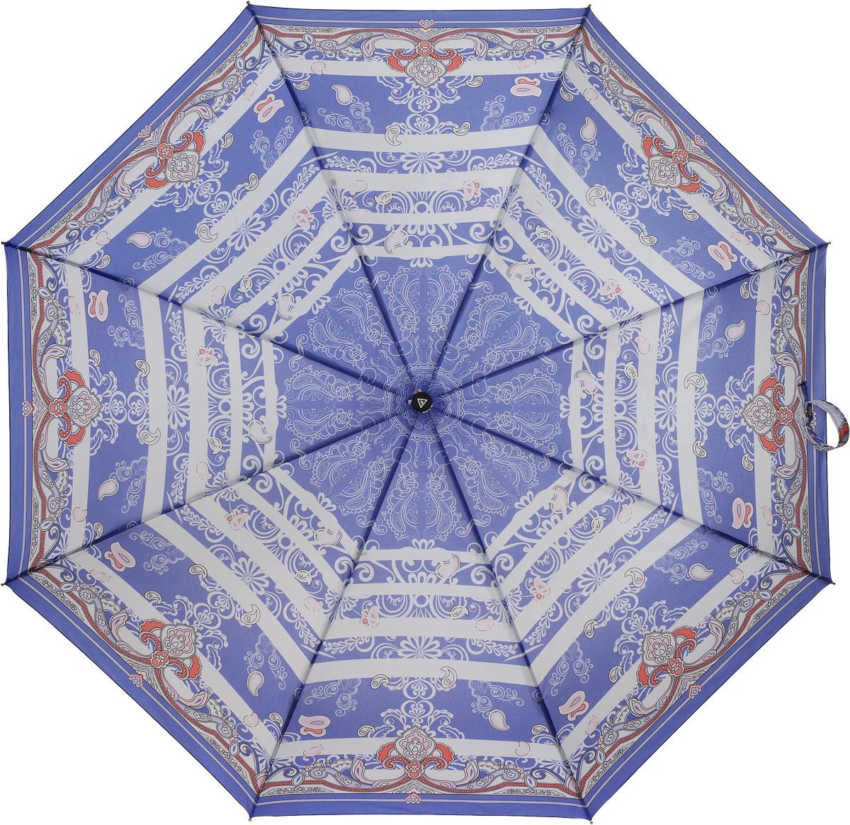 Зонт женский Fabretti, автомат, 3 сложения . L-16101-2L-16101-2Зонт женский Fabretti, облегченный суперавтомат, 3 сложения.Зонт с узором Дамаск в голубом цвете пользуется большим спросом у любителей классики.