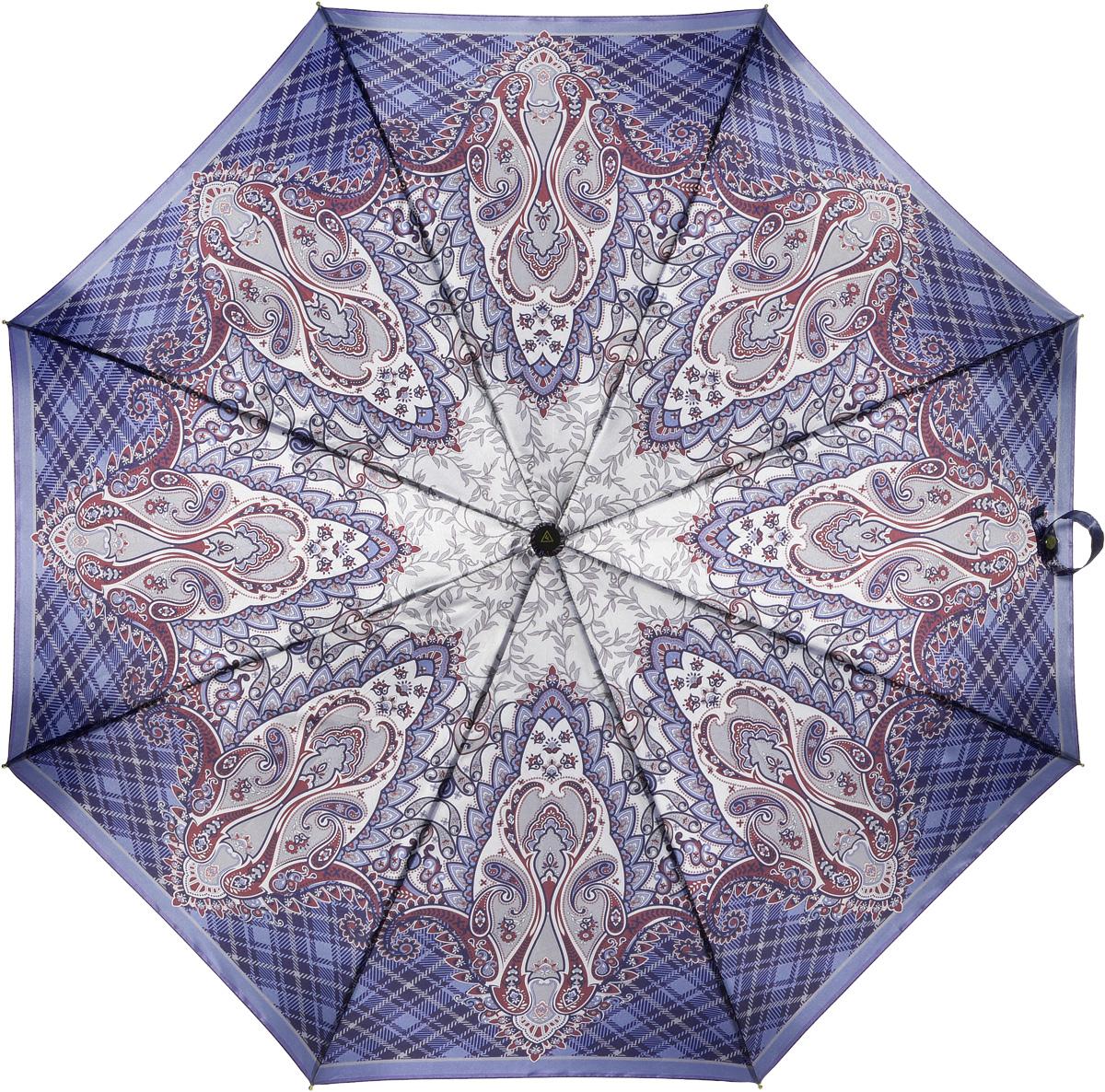 Зонт женский Fabretti, полный автомат, 3 сложения, цвет: мультиколор. S-16103-4S-16103-4Зонт женский Fabretti, суперавтомат, 3 сложения, сатин