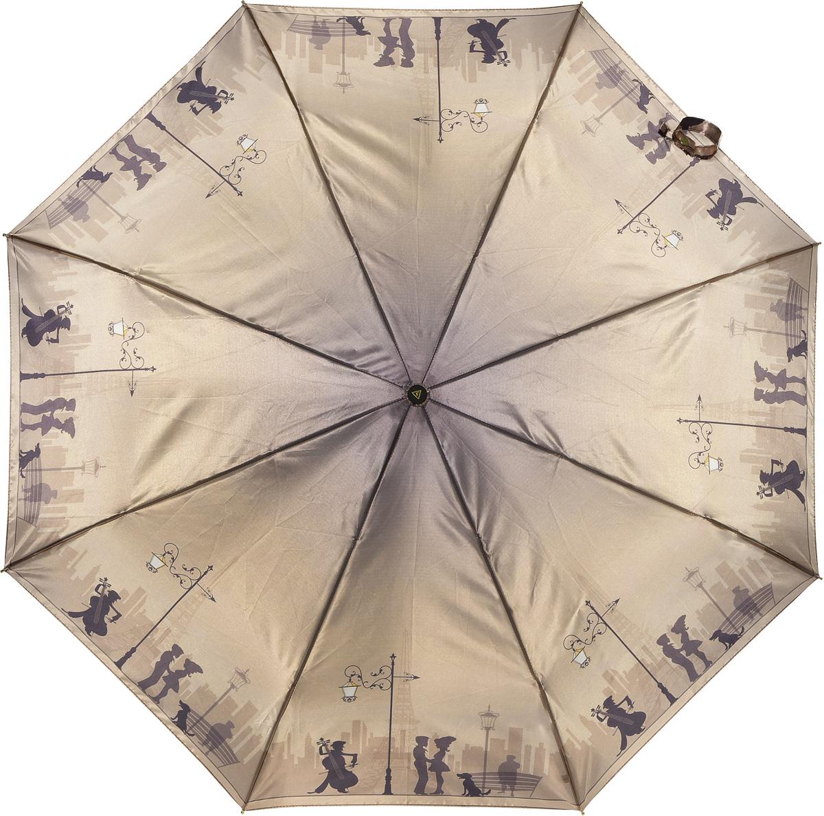 Зонт женский Fabretti, автомат, 3 сложения. L-16107-1L-16107-1Зонт женский Fabretti, облегченный суперавтомат, 3 сложения