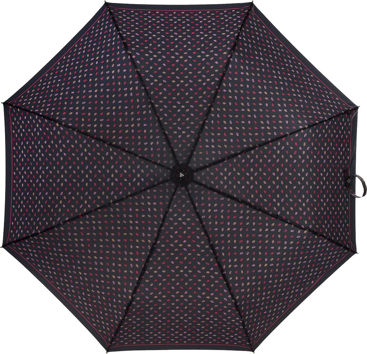 Зонт женский Fabretti, автомат, 3 сложения, цвет: мульколор. L-16102-12L-16102-12Зонт женский Fabretti, облегченный суперавтомат, 3 сложения.Женский зонт Fabretti имеет стильный, неброский дизайн и прекрасно подойдет для создания образа в стиле 50-х, яркий принт со следами поцелуев добавит ноту озорства.