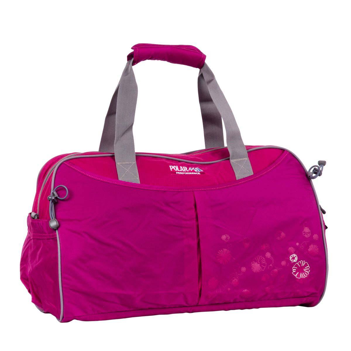 Сумка спортивная Polar, 36 л, цвет: розовый. П2053-29П2053-29Спортивная сумка Polar. Одно основное отделение. Внутри карман на молнии, открытый кармашек на липучке, держатель для бутылочки с водой. Снаружи- карман на молнии спереди сумки. Имеется плечевой ремень.