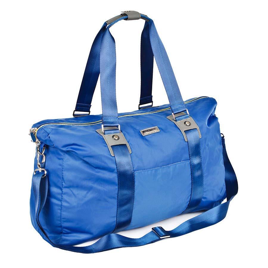 Сумка спортивная Polar, 30,5 л, цвет: синий. П1215-17П1215-17Спортивная сумка Polar из нейлона. Сумка универсальная для спорта. Одно большое отделение -внутри два открытых кармана для телефона и ключей также мелких принадлежностей. Кармана спереди сумки. В комплект входит съемный плечевой ремень. Высота ручек 25 см