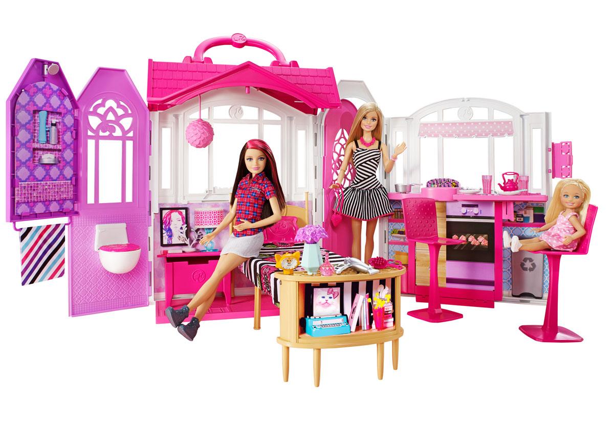Barbie Переносной домик с куклойCFB65