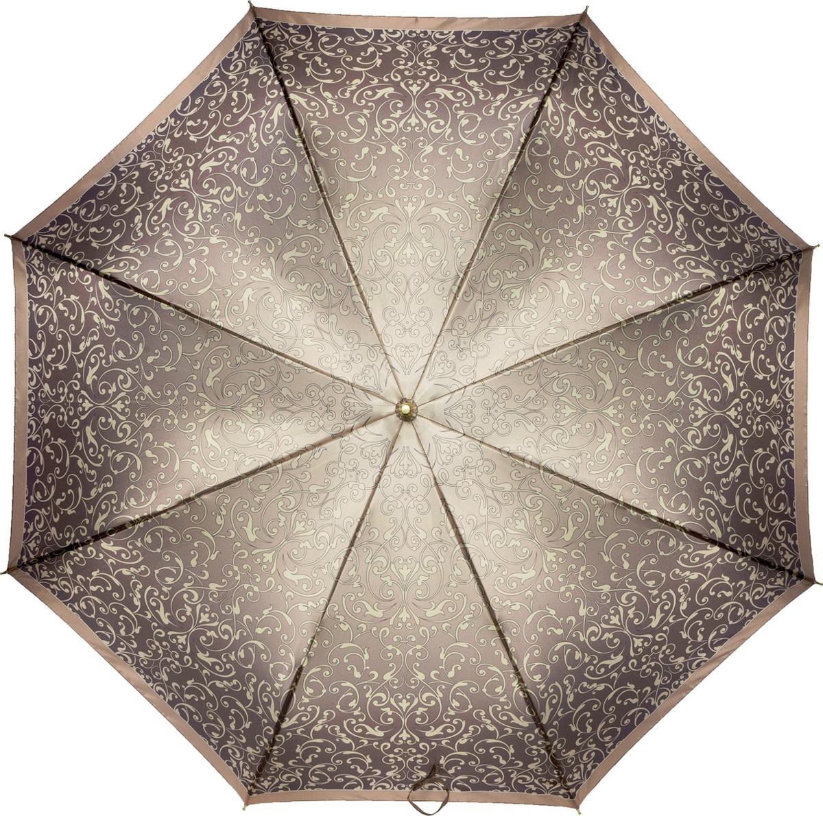 Зонт женский Fabretti, механика, трость, цвет: мультиколор. 16101610Зонт-трость женский Fabrett.С этим зонтом можно неспешно прогуливаться, не чувствуя особой тяжести, а как только начнется дождь, зонтик станет надежным укрытием благодаря большому куполу.