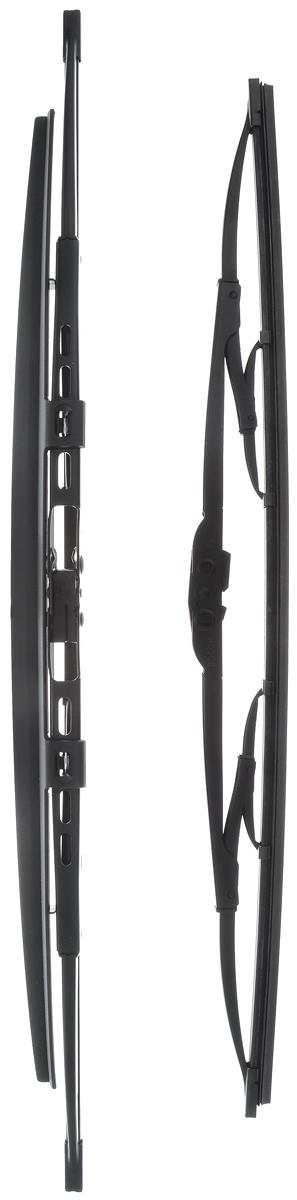 Щетка стеклоочистителя Bosch 728S, каркасная, со спойлером, длина 47,5/55 см, 2 шт3397001728Комплект Bosch 728S состоит из двух щеток разной длины, выполненных по современной технологии из высококачественных материалов. Они обеспечивает идеальную очистку стекла в любую погоду. TWIN Spoiler - серия классических каркасных щеток со спойлером от компании Bosch. Эти щетки имеют полностью металлический каркас с двойной защитой от коррозии и сверхточный профиль резинового элемента с двумя чистящими кромками. Спойлер выполнен в виде крыла, который закрывает каркас щетки от воздушного потока. Комплектация: 2 шт. Длина щеток: 47,5 см; 55 см.