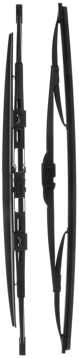 Щетка стеклоочистителя Bosch 450S, каркасная, со спойлером, длина 45 см, 2 шт3397118506Щетка Bosch 450S, выполненная по современной технологии из высококачественных материалов, оптимально подходит для замены оригинальных щеток, установленных на конвейере. Обеспечивает идеальную очистку стекла в любую погоду. TWIN Spoiler - серия классических каркасных щеток со спойлером. Эти щетки имеют полностью металлический каркас с двойной защитой от коррозии и сверхточный профиль резинового элемента с двумя чистящими кромками. Спойлер, выполненный в виде крыла, закрывает каркас щетки от воздушного потока. Комплектация: 2 шт.