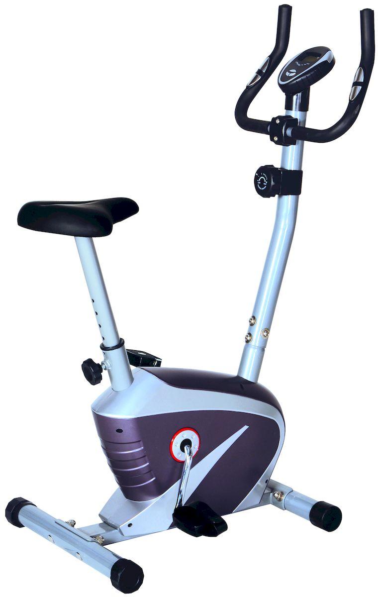 Велотренажер Sport Elit SE-303SE-303Магнитный велотренажер Велотренажер SE-303- специально разработан для тренировок в домашних условиях, с магнитной системой нагрузки, способный выдержать пользователя весом до 100 кг. Он компактный и невероятно простой в использовании, поэтому тренироваться с помощью этого велотренажера смогут даже пожилые люди. Обладает мягким и плавным ходом, благодаря маховику 4 кг. Комфортное сидение, регулируется по высоте. Датчики измерения пульса находятся на рукоятках руля. Оснащен мягкими транспортировочными роликами, что делает перенос тренажера более легким и безопасным. Педали (регулируемые) оснащены ремешками безопасности, не позволяющими соскальзывать ногам во время тренировок. Удобный ЖК дисплей, отображает все необходимые параметры тренировки: время тренировки , скорость, потраченные калории, дистанция, пульс. Использования велотренажера предоставит Вам сразу несколько выгод: улучшит физическую подготовку, мышечный тонус и поможет похудеть. Основные характеристики Использование:...