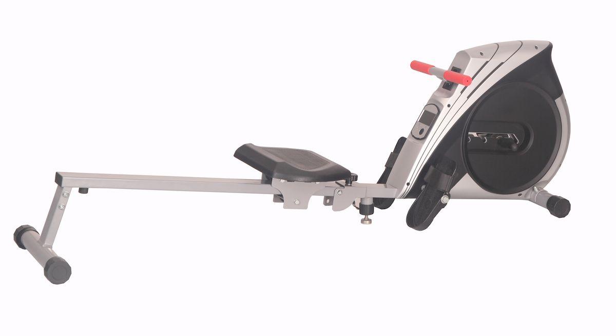 Гребной тренажер Sport Elit SE-104SE-104Гребной тренажер Sport ElitSE-104 обеспечивает естественные и плавные движения как во время гребли на легендарных римских галерах, используя для создания нагрузки лопастное сопротивление воздуха. 4-[ ступенчатая магнитная система изменения уровня нагрузки . Компьютер показывает : время тренировки, кол-во гребков, потраченные калории, подсчет количества раз в минуту, скан. Такой тренажер удачно сочетает в себе два типа спортивных снаряда: Первый - это кардиотренажер для развития сердца, выносливости и похудения, Второй это силовой тренажер для развития мускулатуры и построения фигуры (такого типа гребные тренажеры дают нагрузку практически на все группы мышц). Не смотря на то, что Гребной тренажер Sport ElitSE-104 не займет много места в доме, после тренировки тренажер можно легко и быстро сложить. Прочная стальная конструкция позволяет заниматься на тренажере пользователям с массой тела до 120 кг. Большое удобное сидение легко и бесшумно скользит по алюминиевой шине...