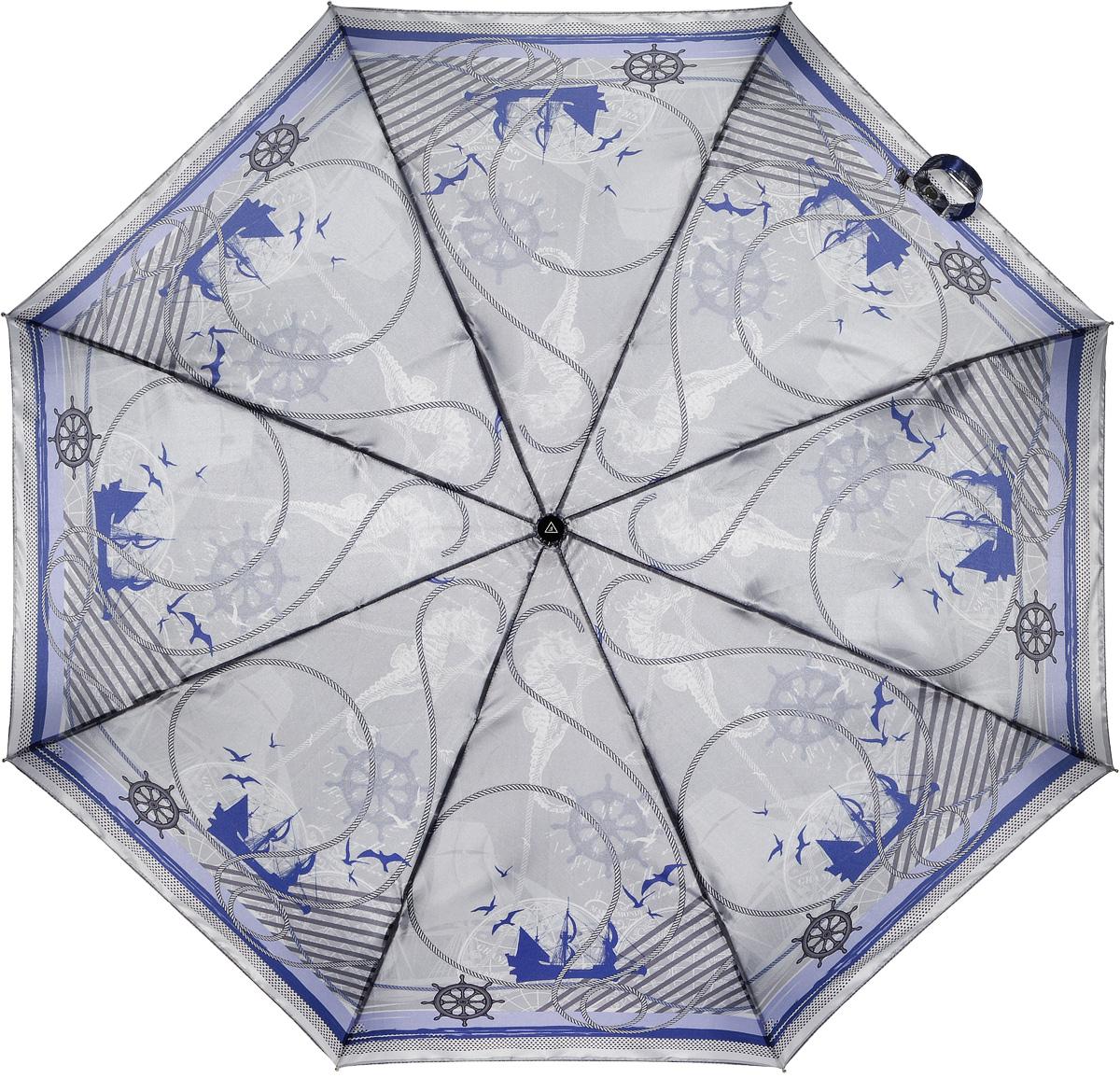 Зонт женский Fabretti, автомат, 3 сложения, цвет: мультиколор. L-16105-3L-16105-3Зонт женский Fabretti, облегченный суперавтомат, 3 сложения
