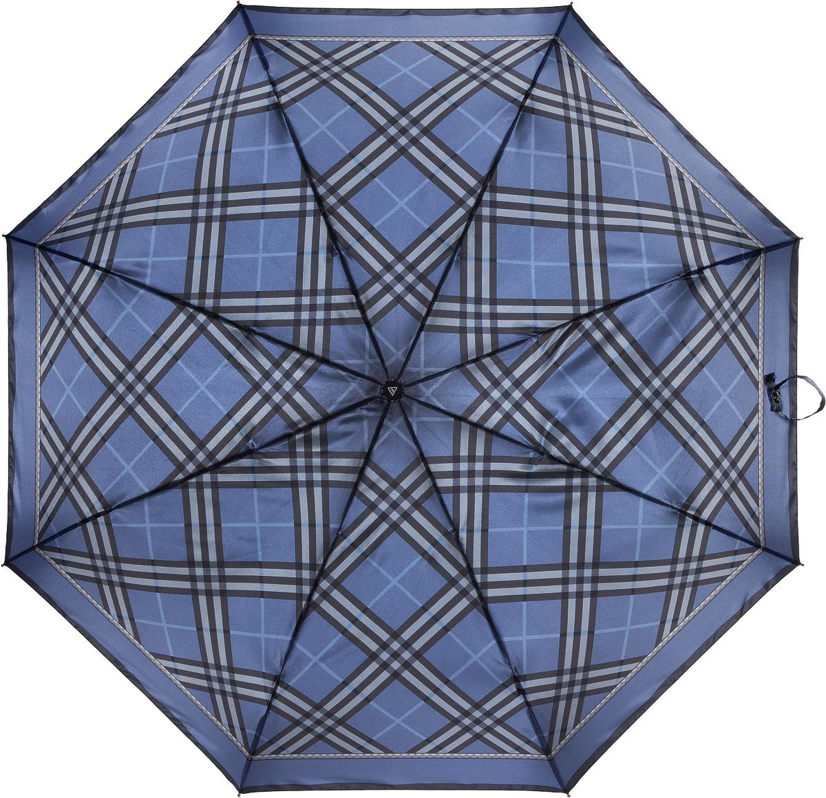 Зонт женский Fabretti, автомат, 3 сложения, цвет: синий. L-16105-13L-16105-13Зонт женский Fabretti, облегченный суперавтомат, 3 сложения